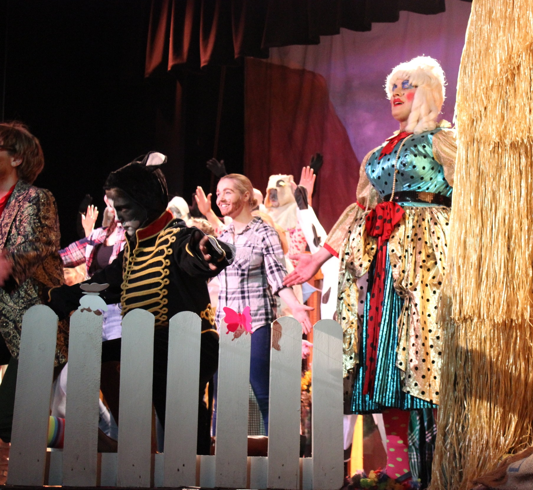 Aled Price as Betsy Blue in Rhayader YFC's Pantomime.