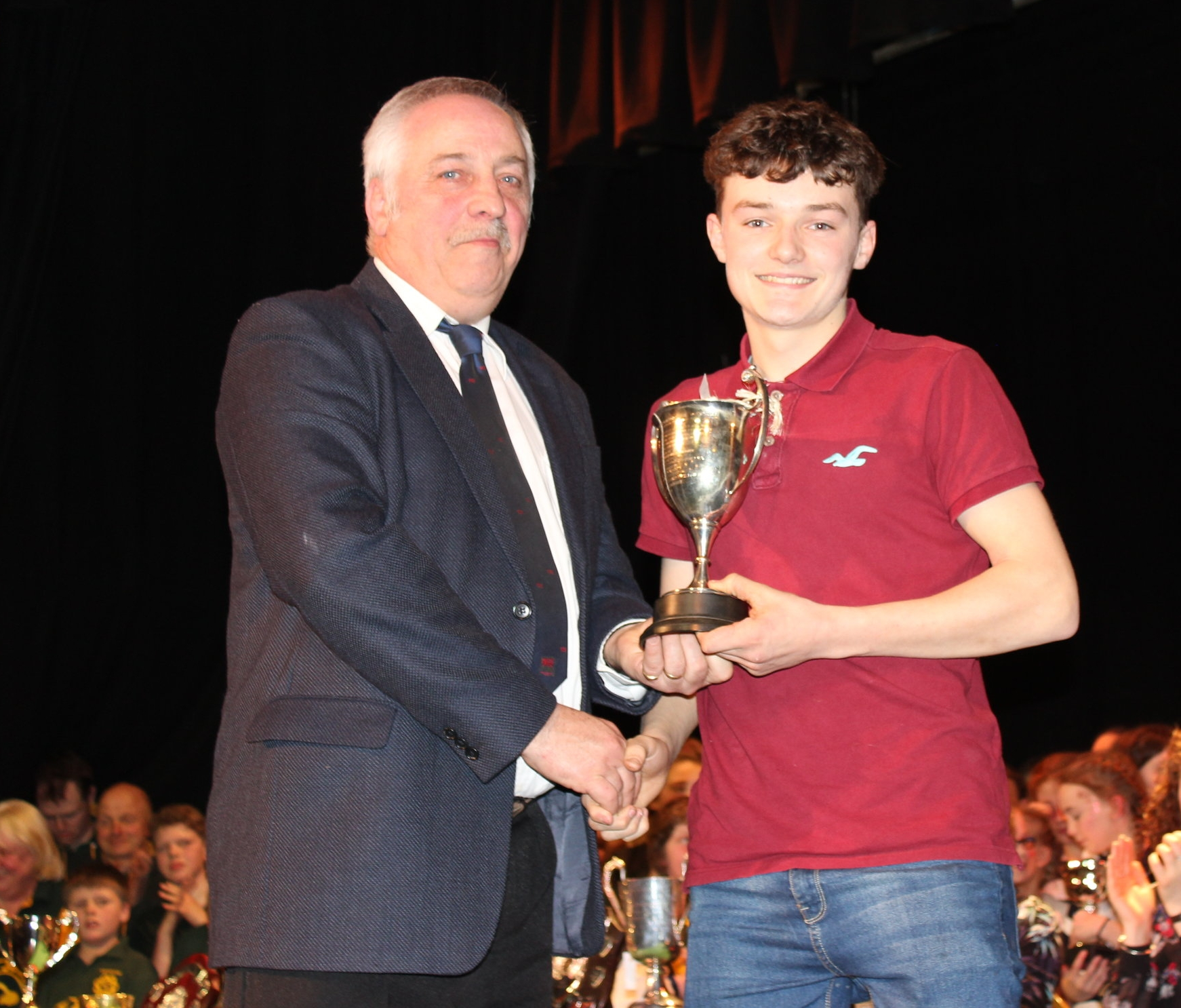 William Thomas, Cantal YFC winning the 'Watson Cup' for Best Musician by David Powell, FUW