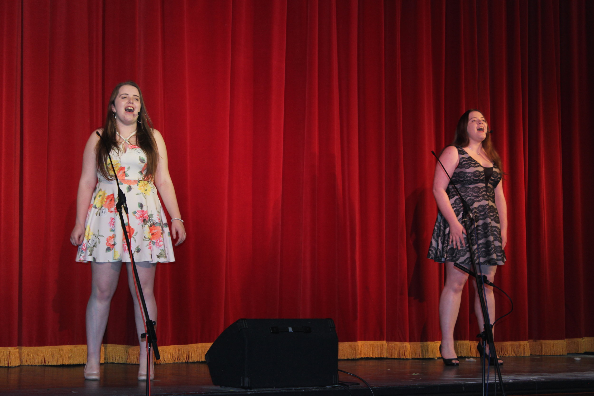 Cerys & Natalie Wood, Knighton YFC gaining 3rd place in the Time to Shine Competition.