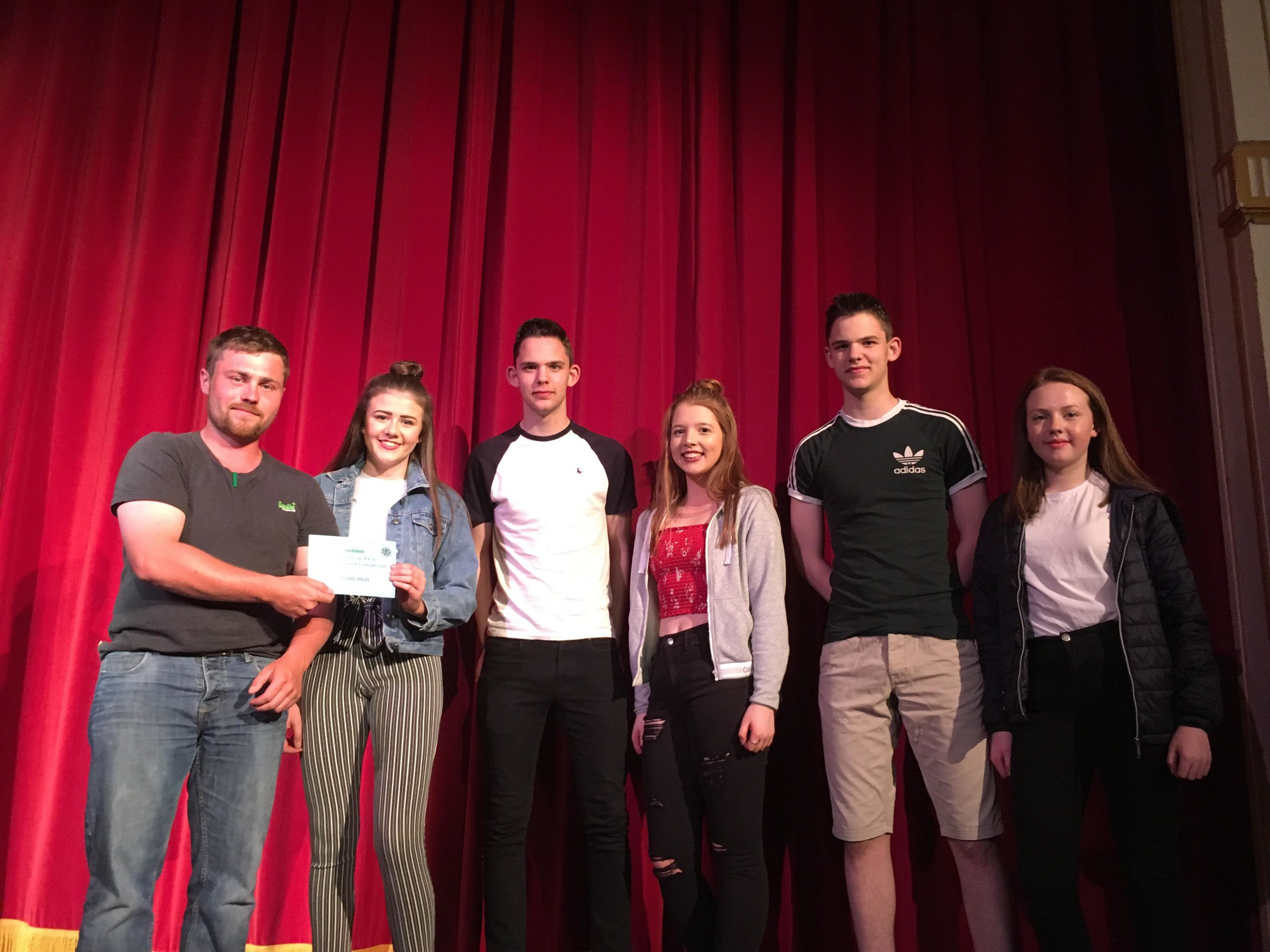 Penybont YFC gaining 2nd place with County Vice Chairman, James Poulton.