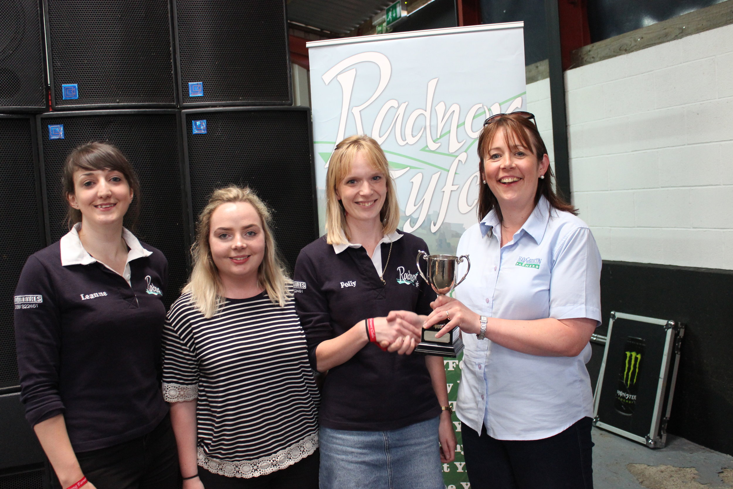 Leanne Jones, Holly Richards & Polly Kendrick, Penybont YFC - Red Flame Productions Cup / Top of the Pops Group Competition