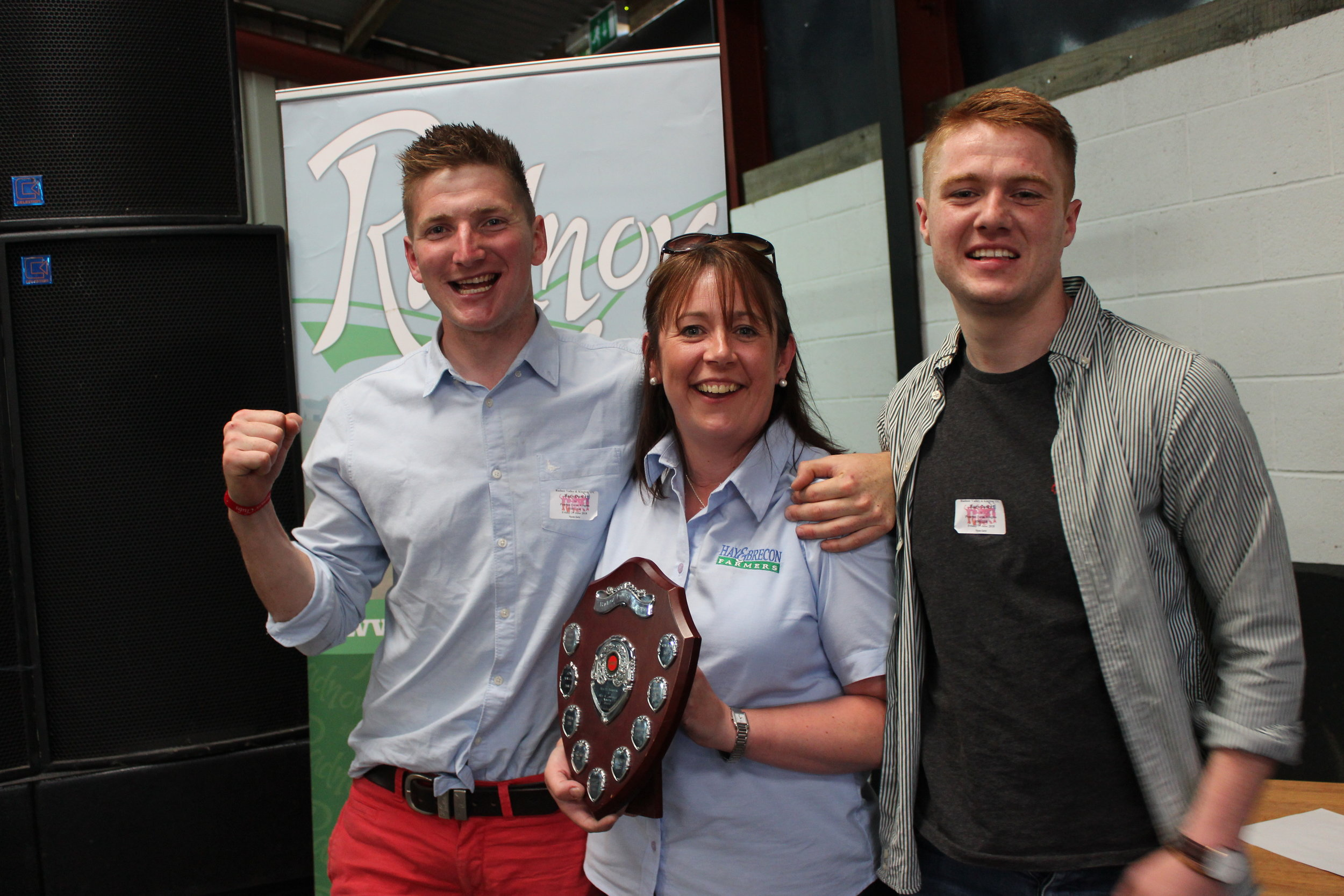 Robbie Savage & Ieuan Price, Radnor Valley YFC - Mrs B I Rodericl and Mrs A Lawrence Novelty Shield / RAF Wheelbarrow Relay Competition