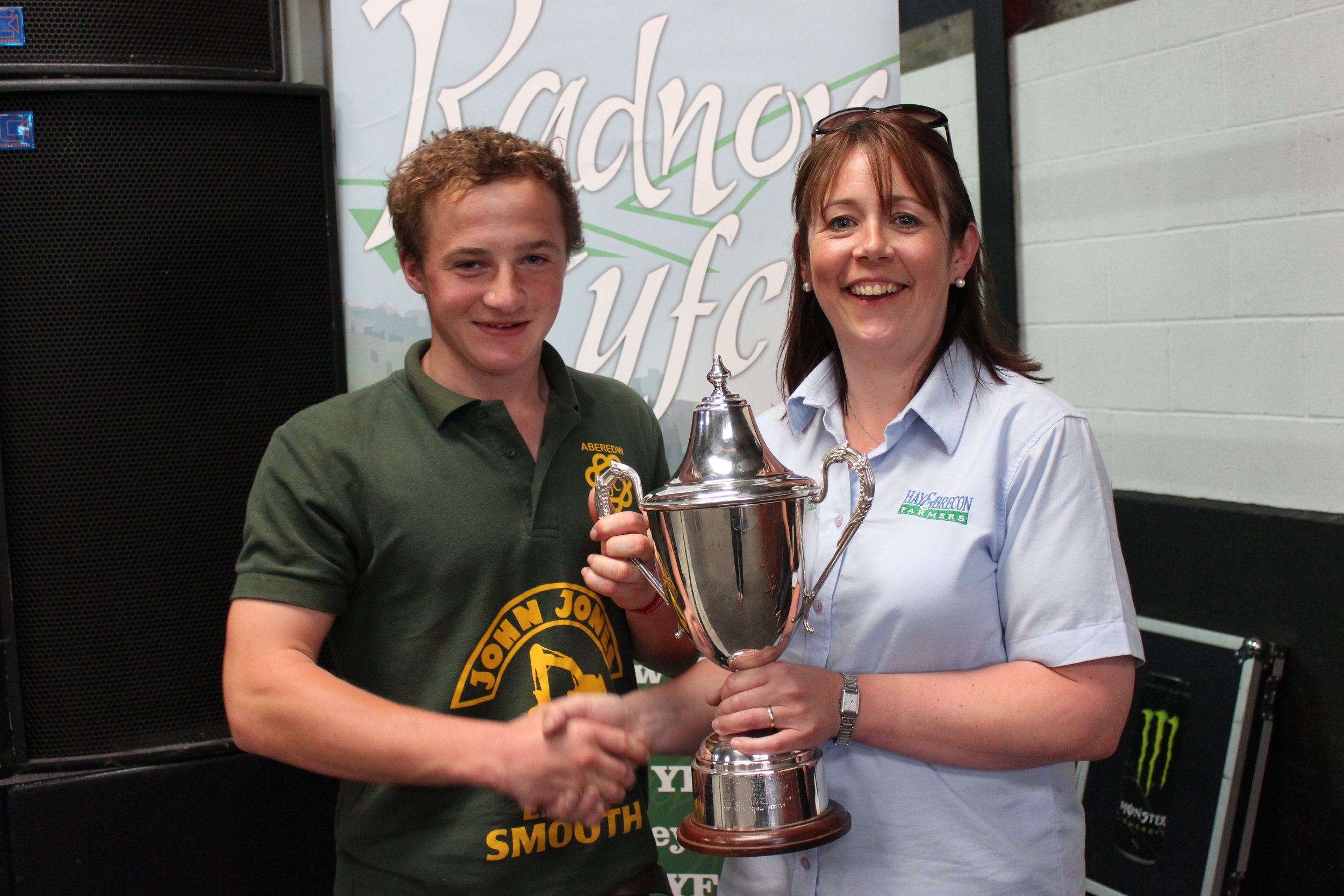 Reuben Powell, Aberedw YFC - Jonathan Ruell Memorial Cup / Highest mark attained by a male member in Stockjudging Compeitions
