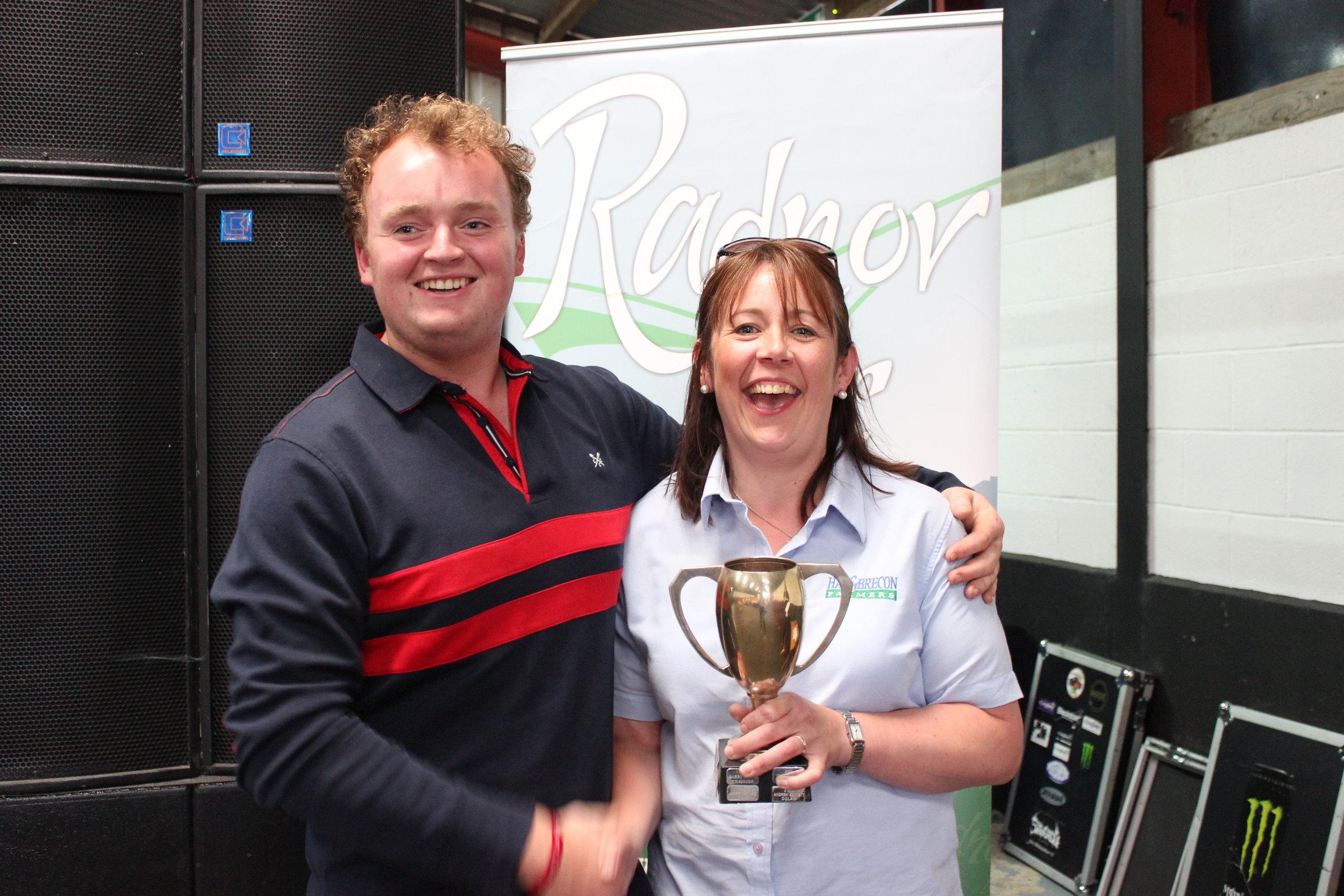 Sam Powell, Penybont YFC - Ian Jones Perpetual Cup / 'Best Pen' in the Shearing Classes