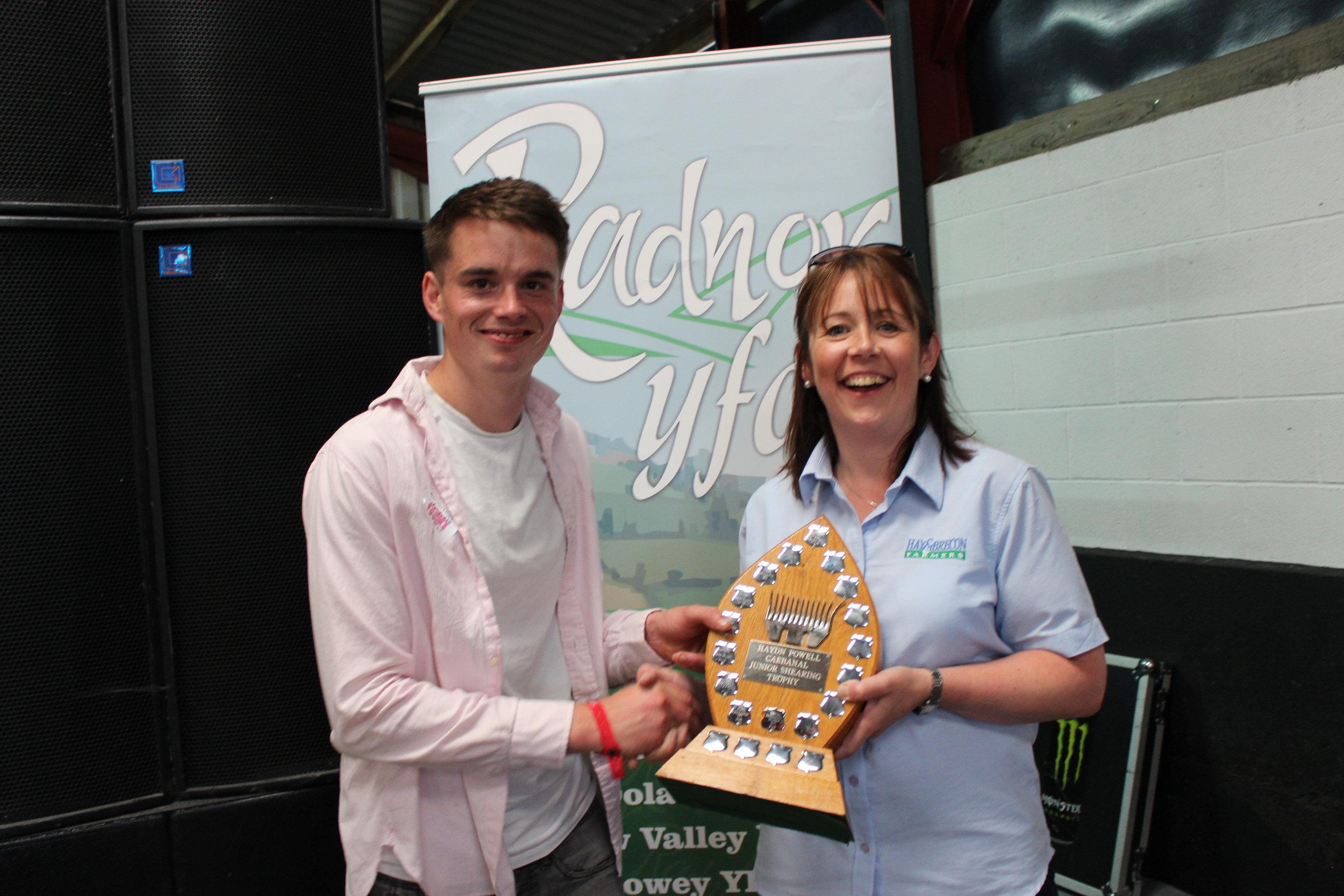 Ed Hamer on behalf of Philip Price, Radnor Valley YFC - Haydn Powell Trophy  / Junior Shearing Competition