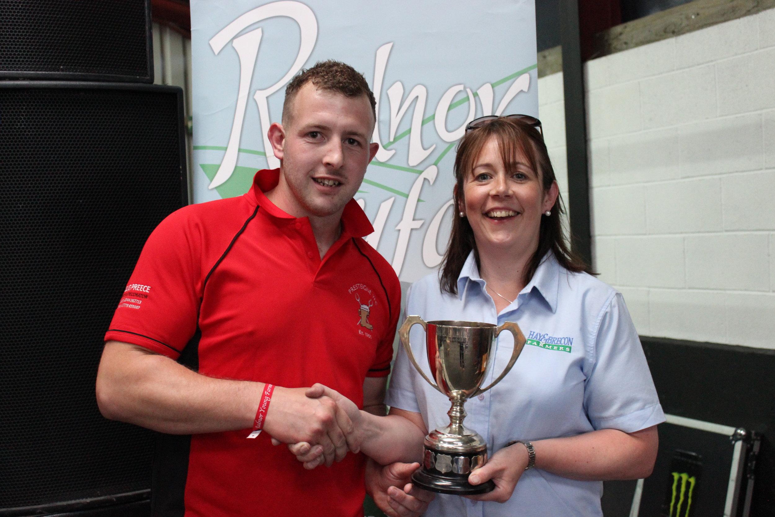 Owen Davies, Presteigne YFC - The RA Lister Trophy - Senior Shearing Competition