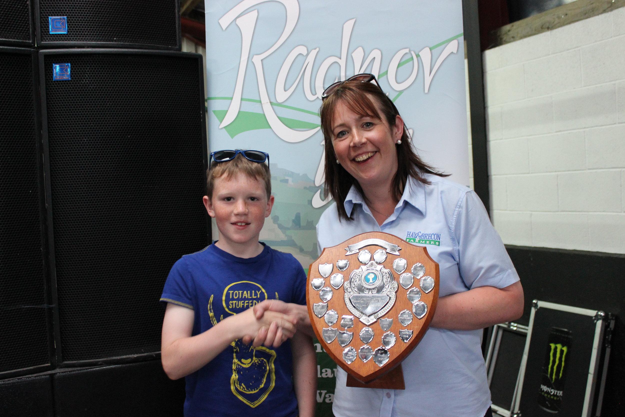 Harri Bird, Rhosgoch YFC - Mrs Margaret Davies Shield / Dressing Up & Generation Game Competitions