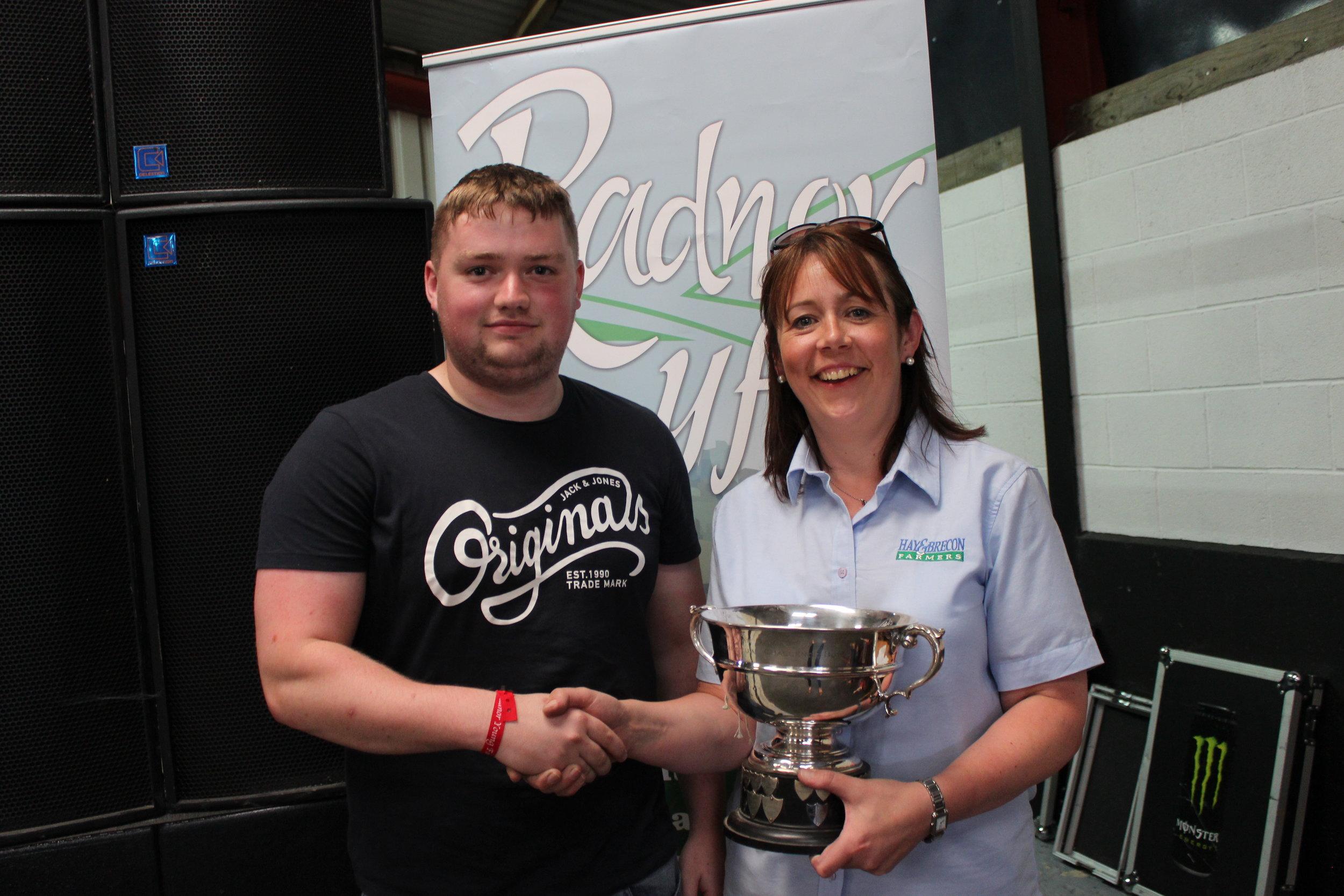 Tom Groves, Presteigne YFC - Mrs Evan Davies Memorial Rose Bowl / Cookery & Craft Competitions