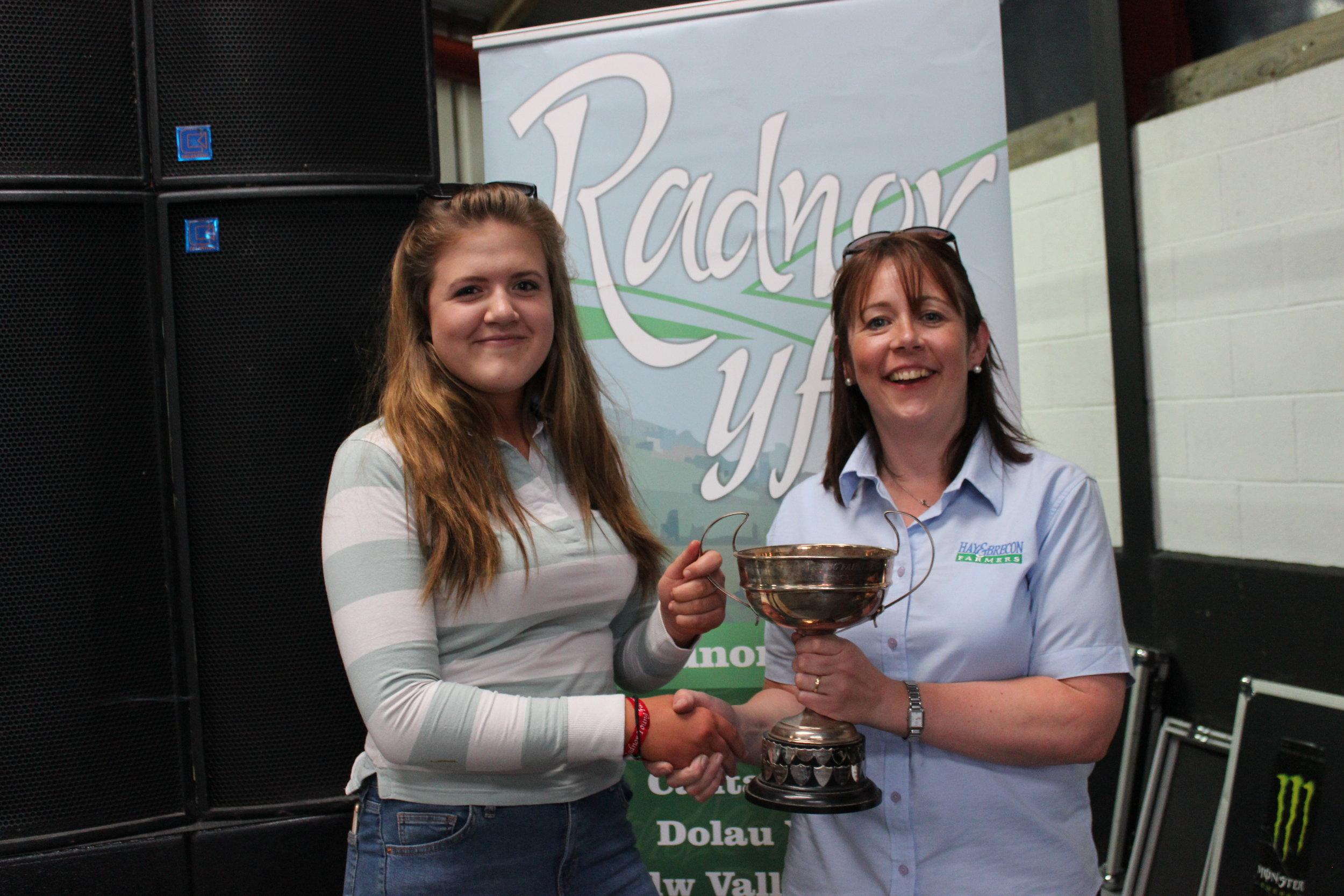 Gemma Price, Llanbadarn Fynydd YFC - Knighton & District Cup / Highest placed small Club