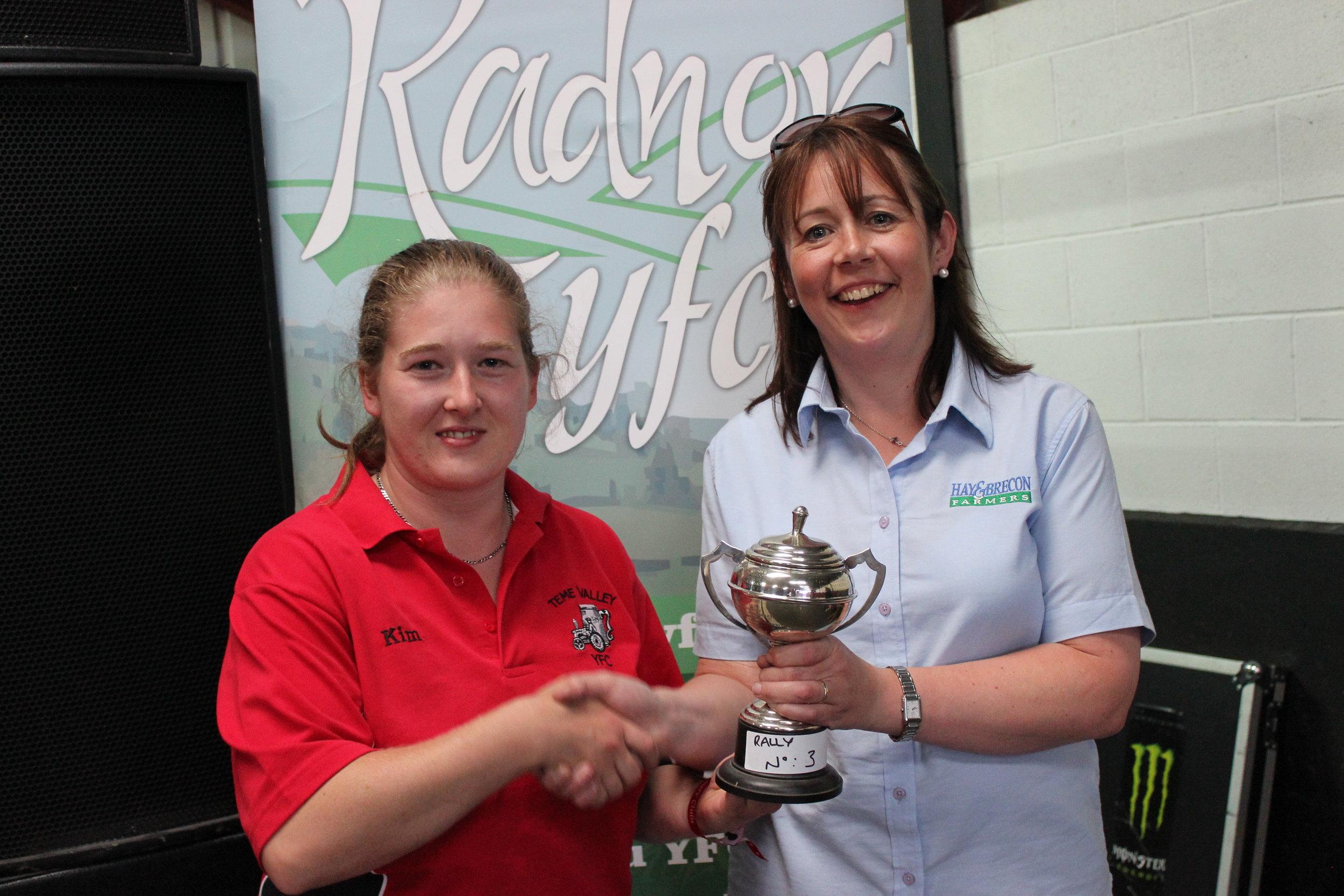 Kim Barnett, Teme Valley YFC - Bevan Lewis Cup / Third placed Club