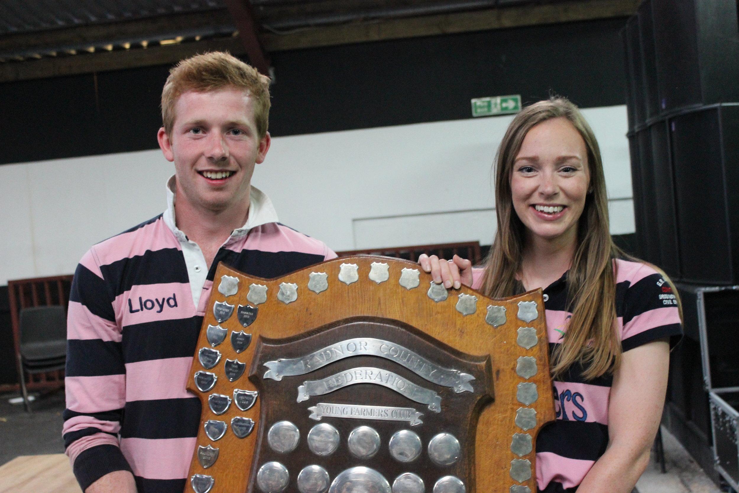 Lloyd Hammond & Rhian Hammonds - Perpetual Challenge Shield / First placed Club