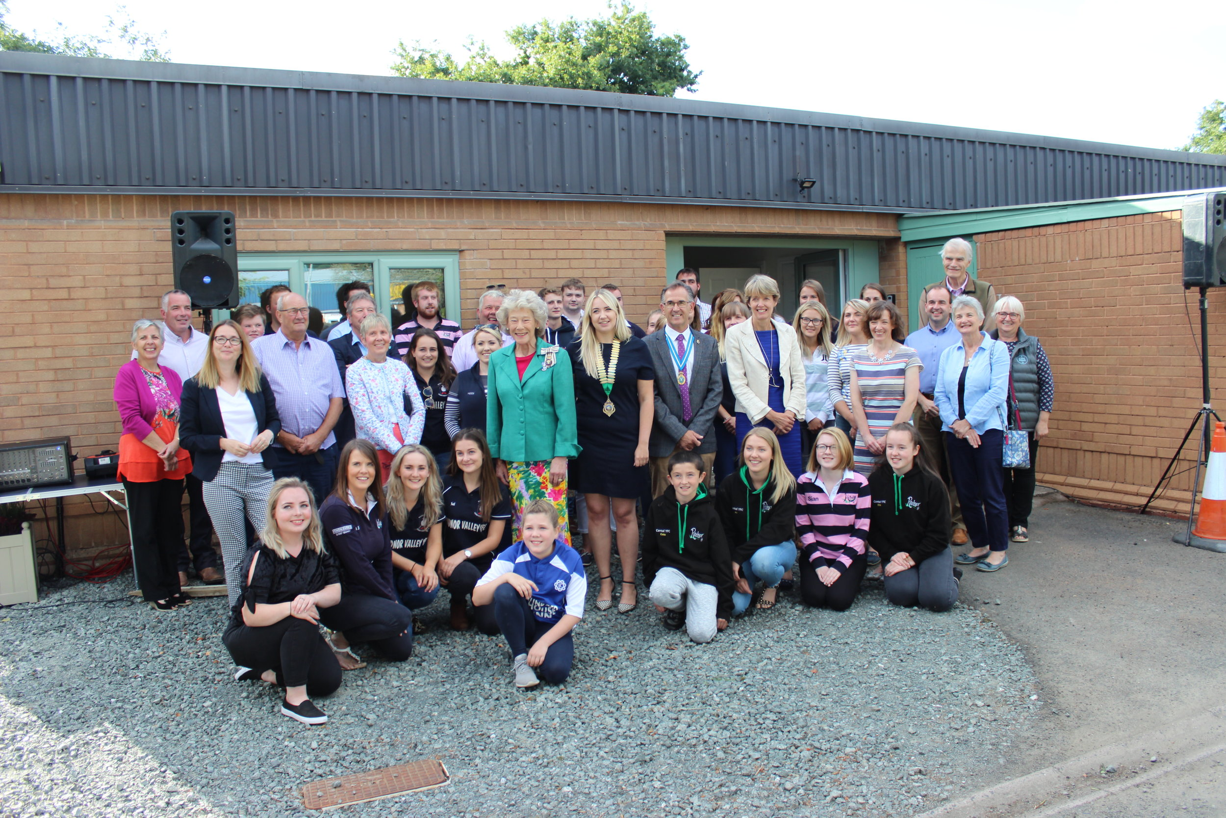 Past and present members, Vice Presidents and President for the Federation as well as supports gathered at the new Radnor YFC Centre for the Official Opening.