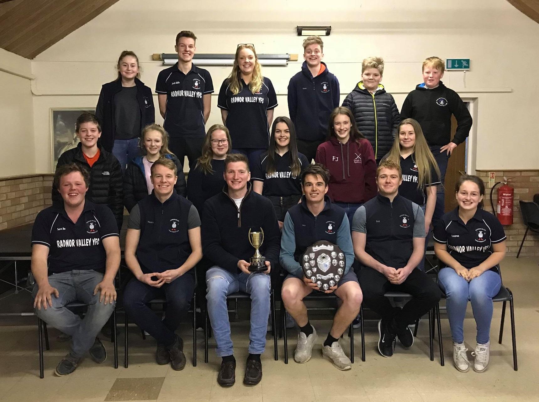 Last year's Field Day winners, Radnor Valley YFC.