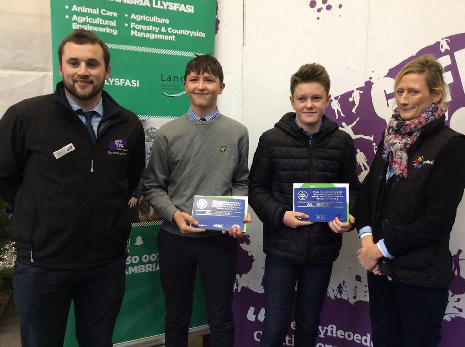 William Davies, Aberedw YFC - 2nd place Under 16 Butchers Lamb Stockjudging