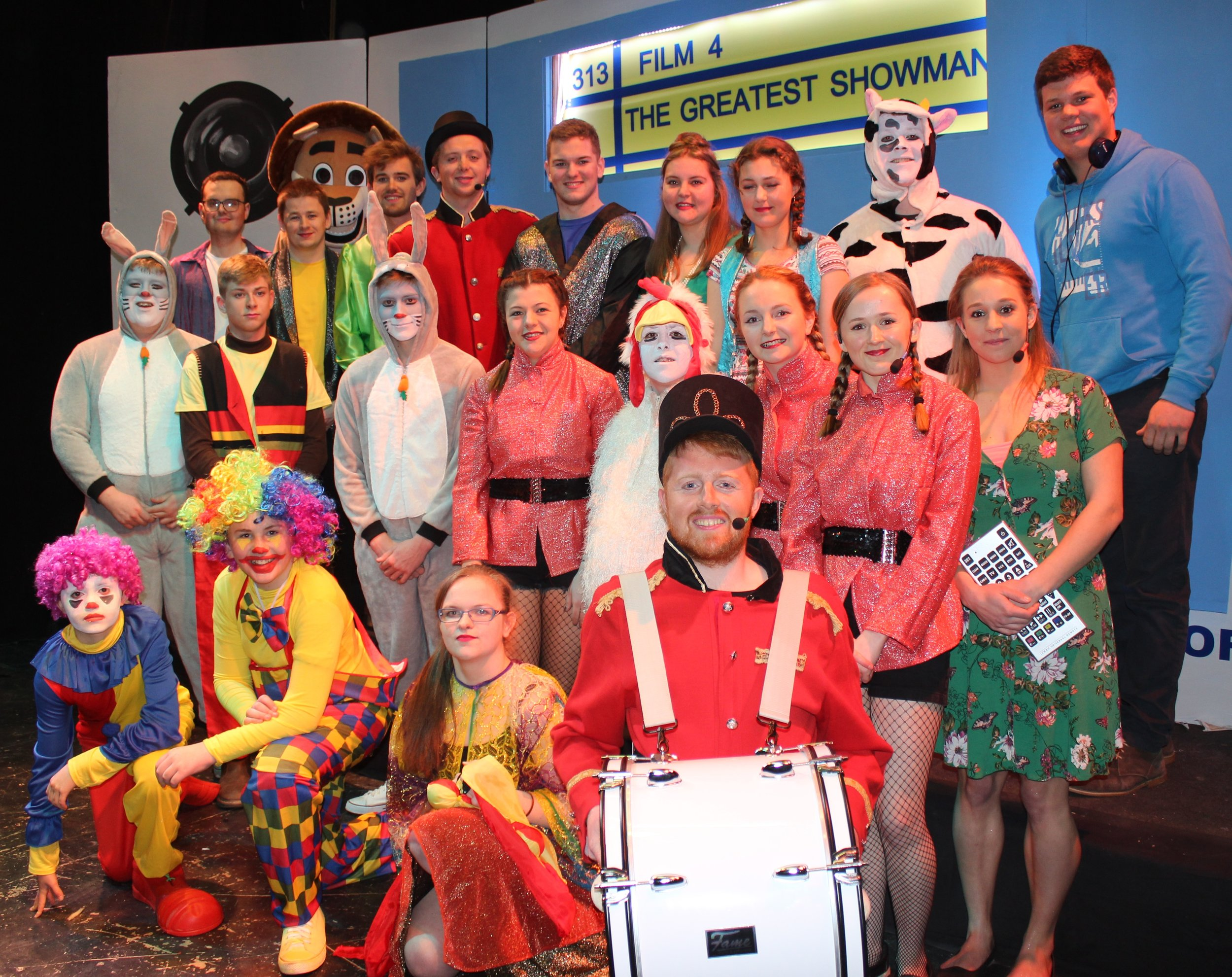 Rhosgoch YFC with their production 'What's on TV?'