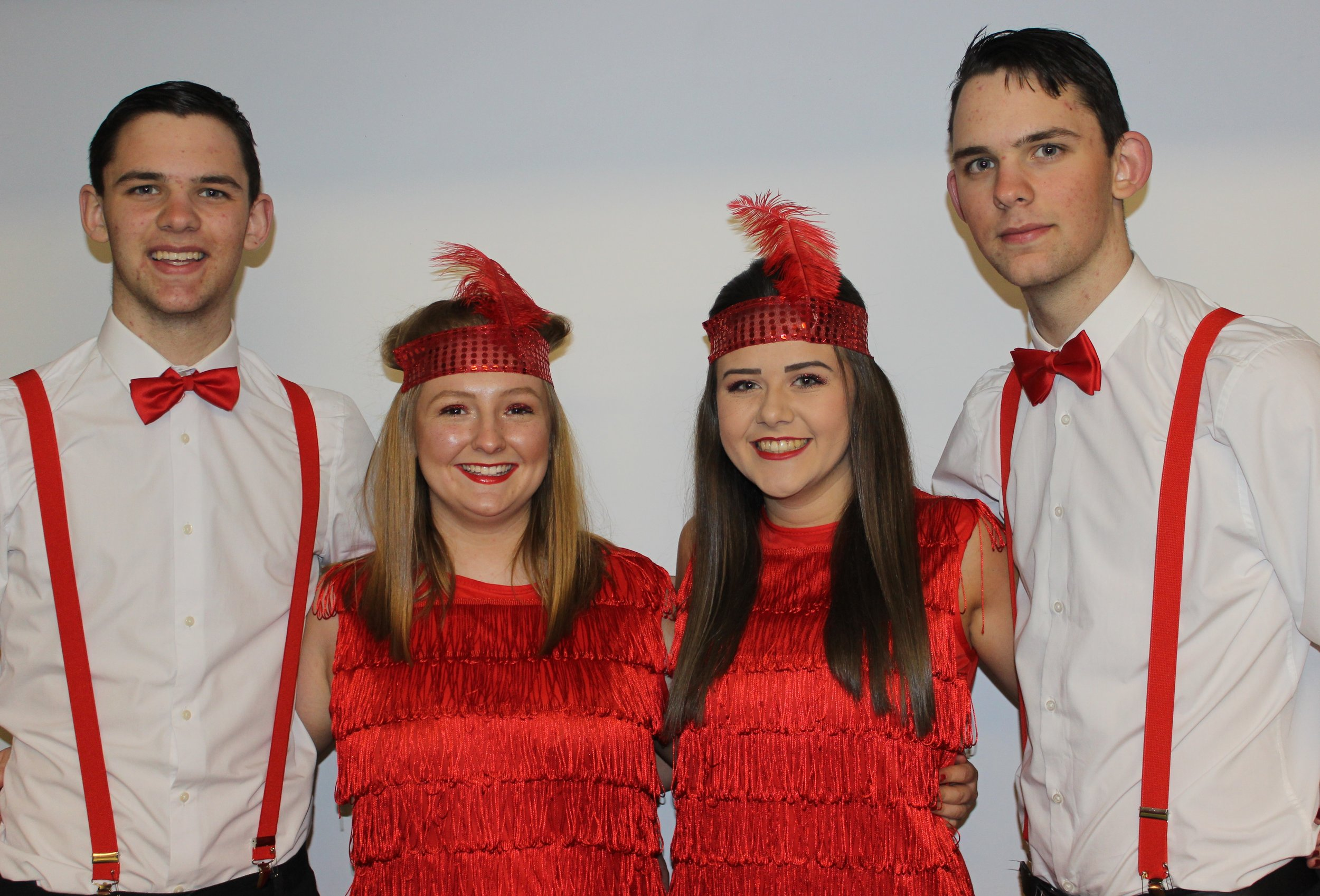 Dan Powell, James Powell, Lauren Jones & Lauren Bradford, Penybont YFC