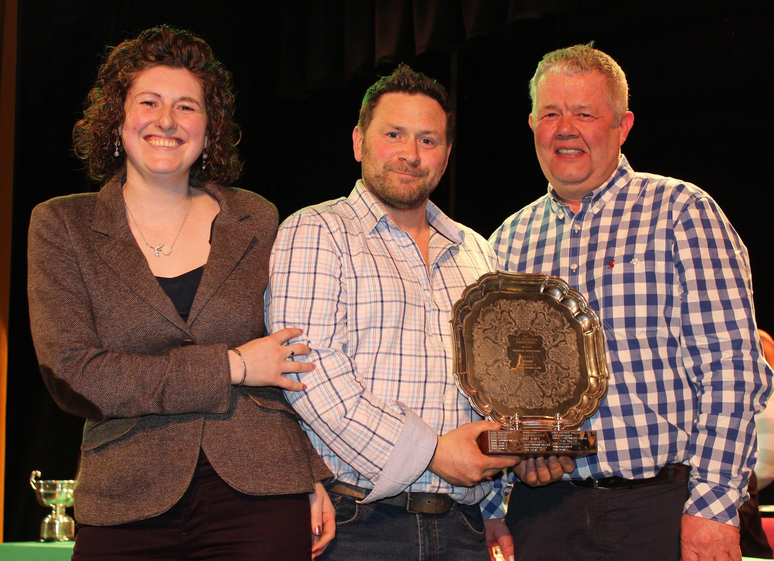 James Powell & Gwyn Price, Llanbadarn Fynydd YFC - Paul Elkington trophy for Technical Merit.