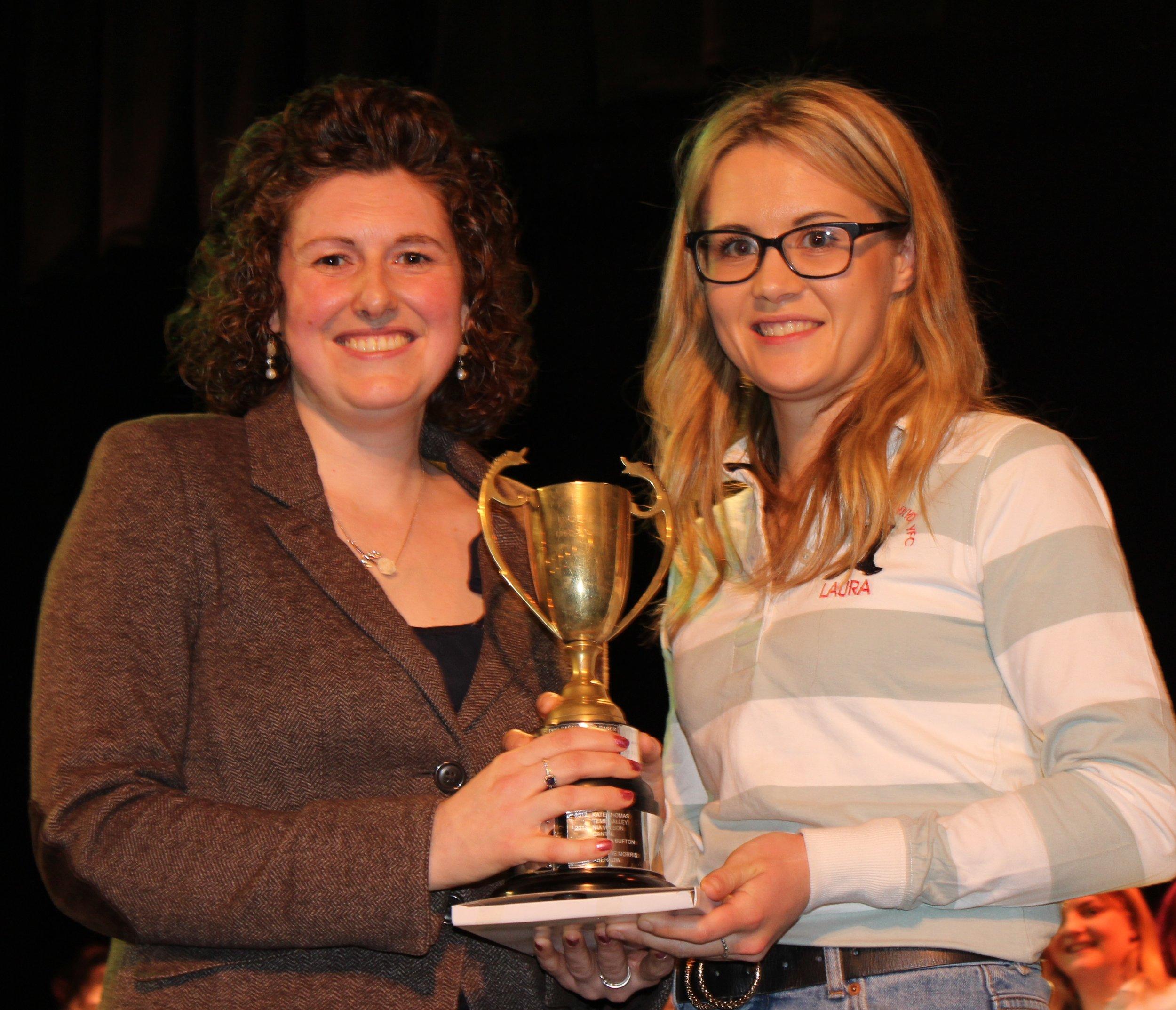 Laura Watson, Llanbadarn Fynydd YFC - Blodwen Griffiths Trophy for Best Individual Female Performance.