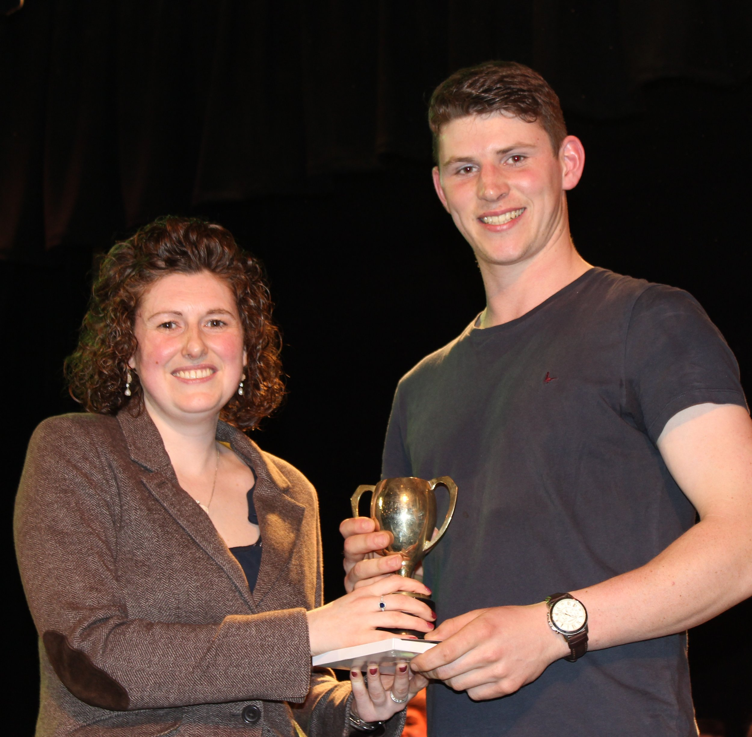 Will Lewis, Dolau YFC - Mr & Mrs RH Moseley for Best Individual Male Performance.