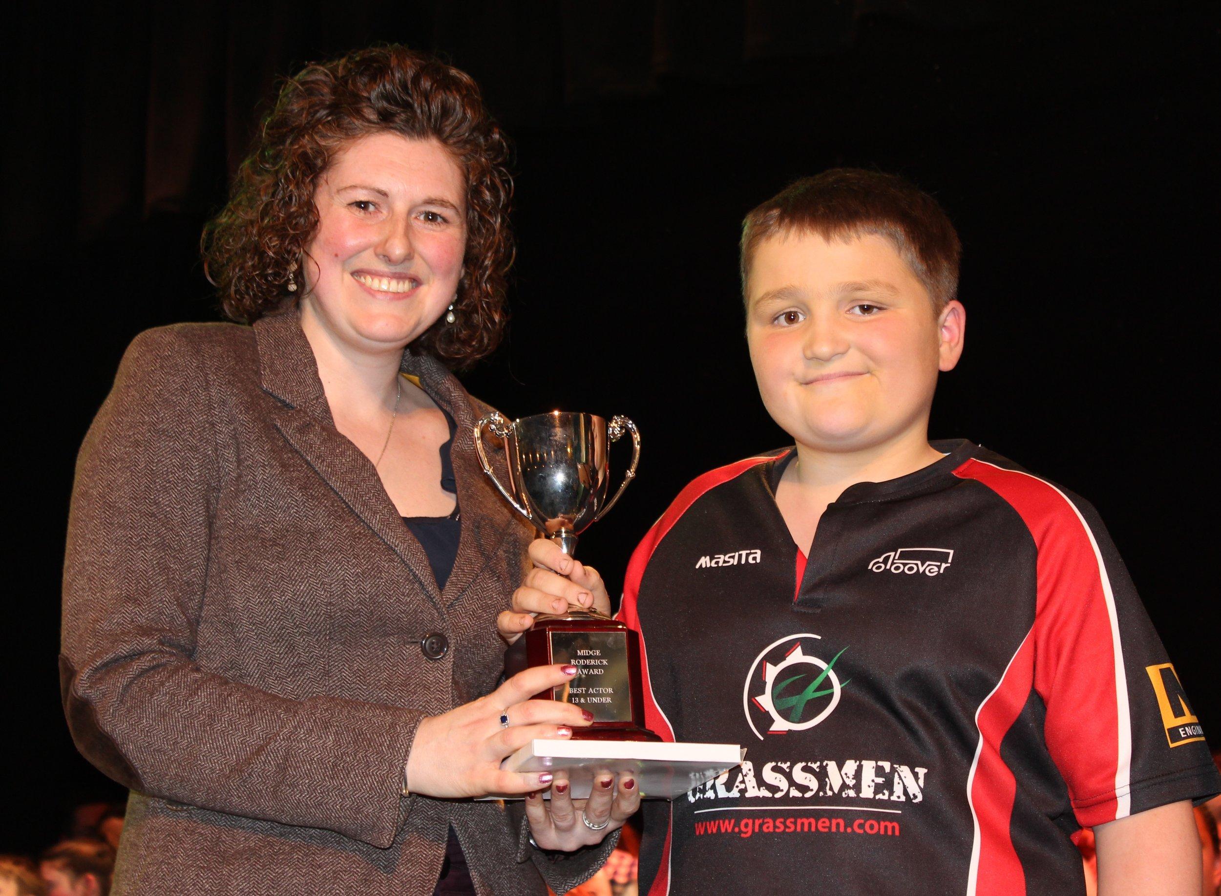 William Goodwin Edwards, Llanbadarn Fynydd YFC - MIdge Roderick Awards for Best Actor 13 Years and Under.