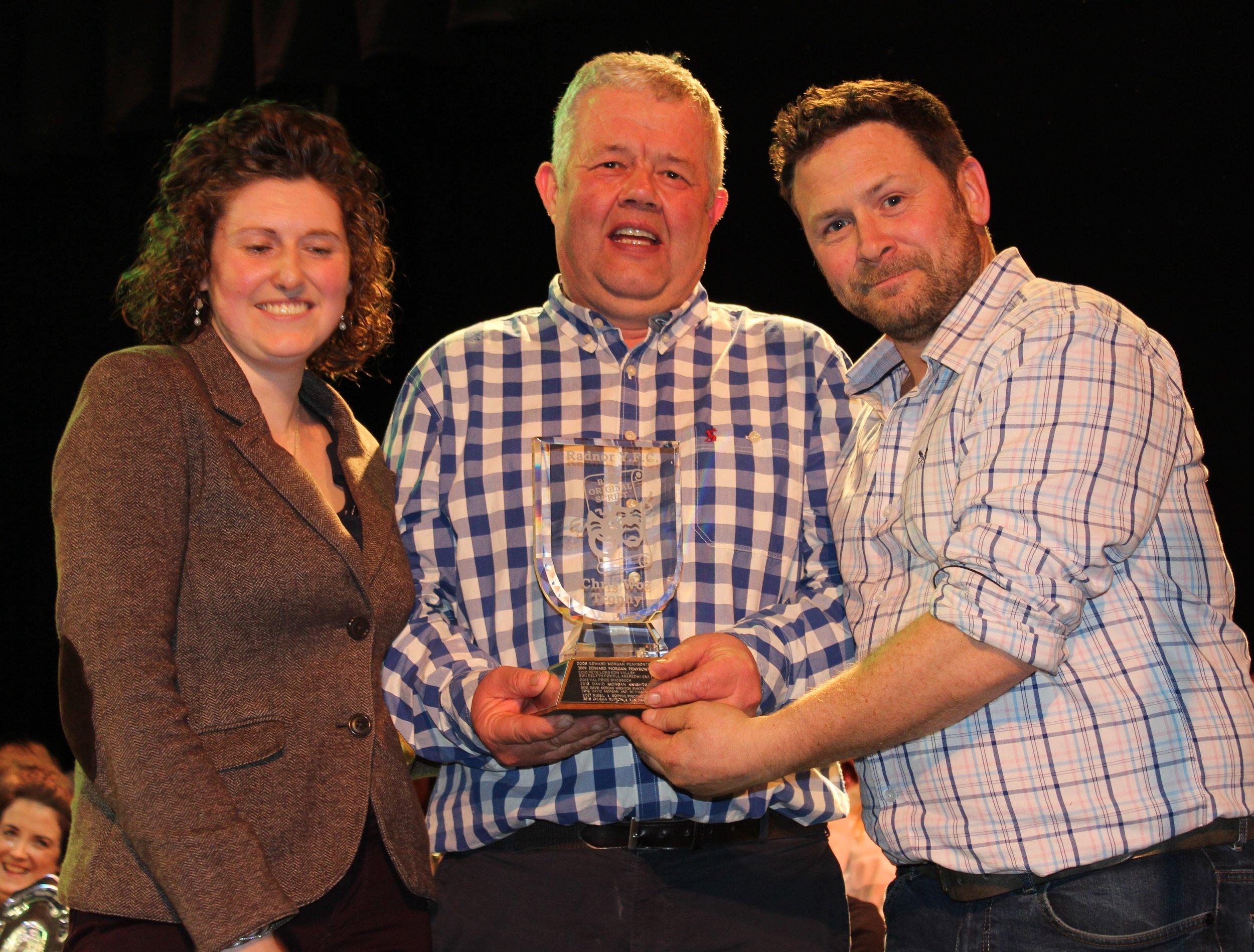 Gwyn Price & James Powell, Llanbadarn Fynydd YFC - Chris Woz Trophy for Best Script