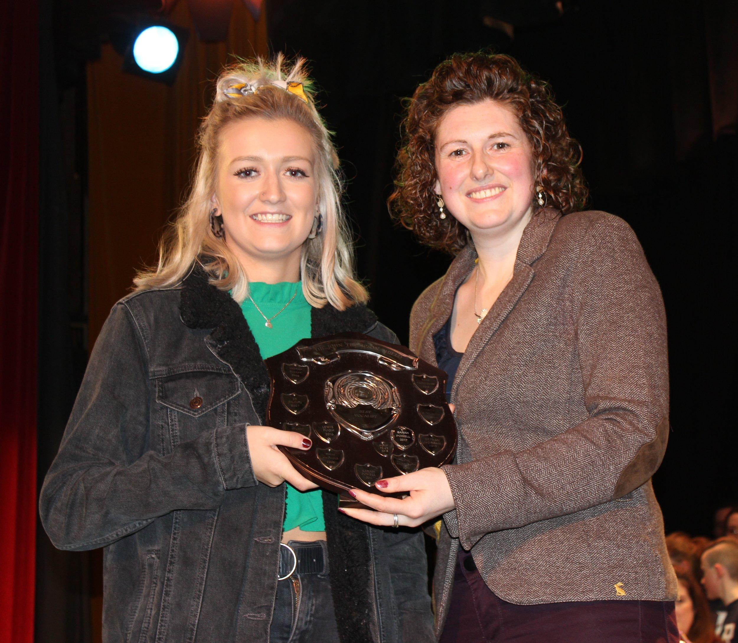 Harriet Williams, Radnor Valley YFC - John Thompson Shield for Best Vocalist.