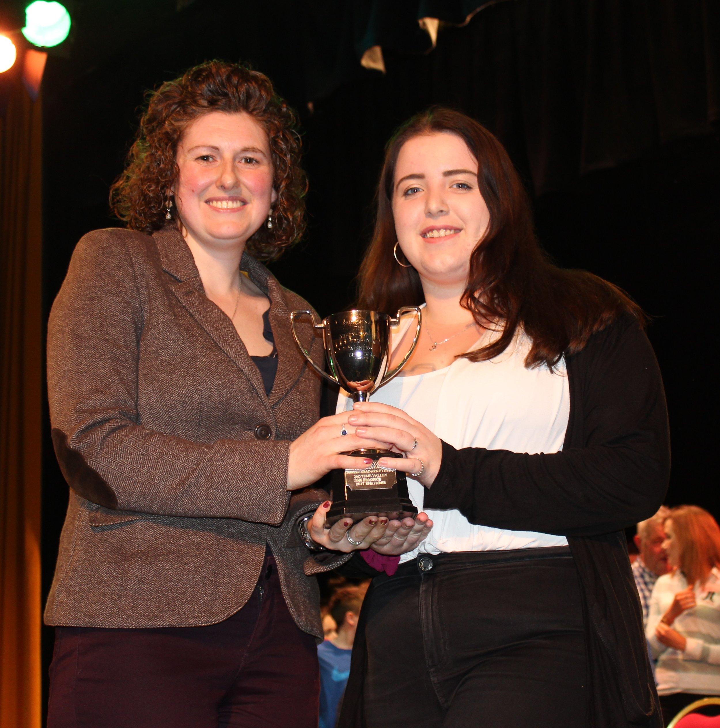 Cerys Wood, Knighton YFC - Abbey Cwm Hir Hall Trophy for Best Set.