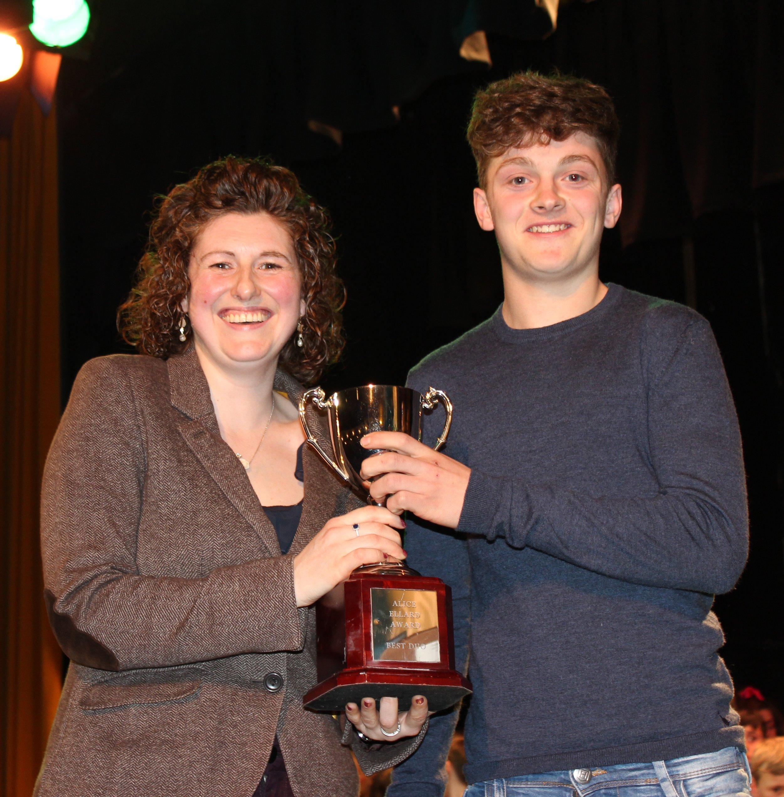 Rees Morris, Radnor Valley YFC - The Alice Ellard Award for Best Duo (with Ewan Davies)