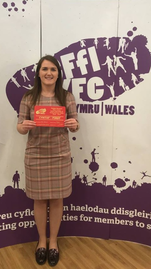 Ella Harris, Teme Valley YFC winning the Situations Vacant competition.