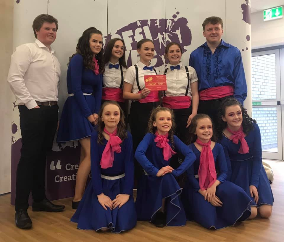 Edw Valley YFC winners of the Ballroom Dancing competition.