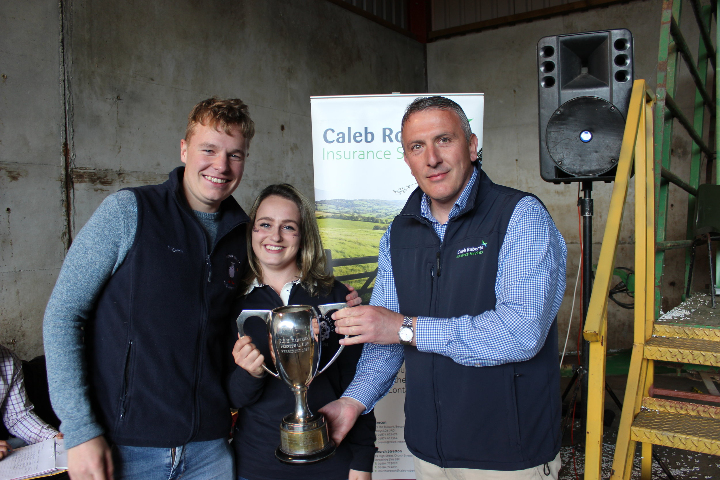 Elliot Morris & Lauren Morris, Radnor Valley YFC - The PRH Tantrum Cup for A Twist On A Nursery Rhyme & Promotional Video Clip being presented by Hugh Campbell, Caleb Roberts.