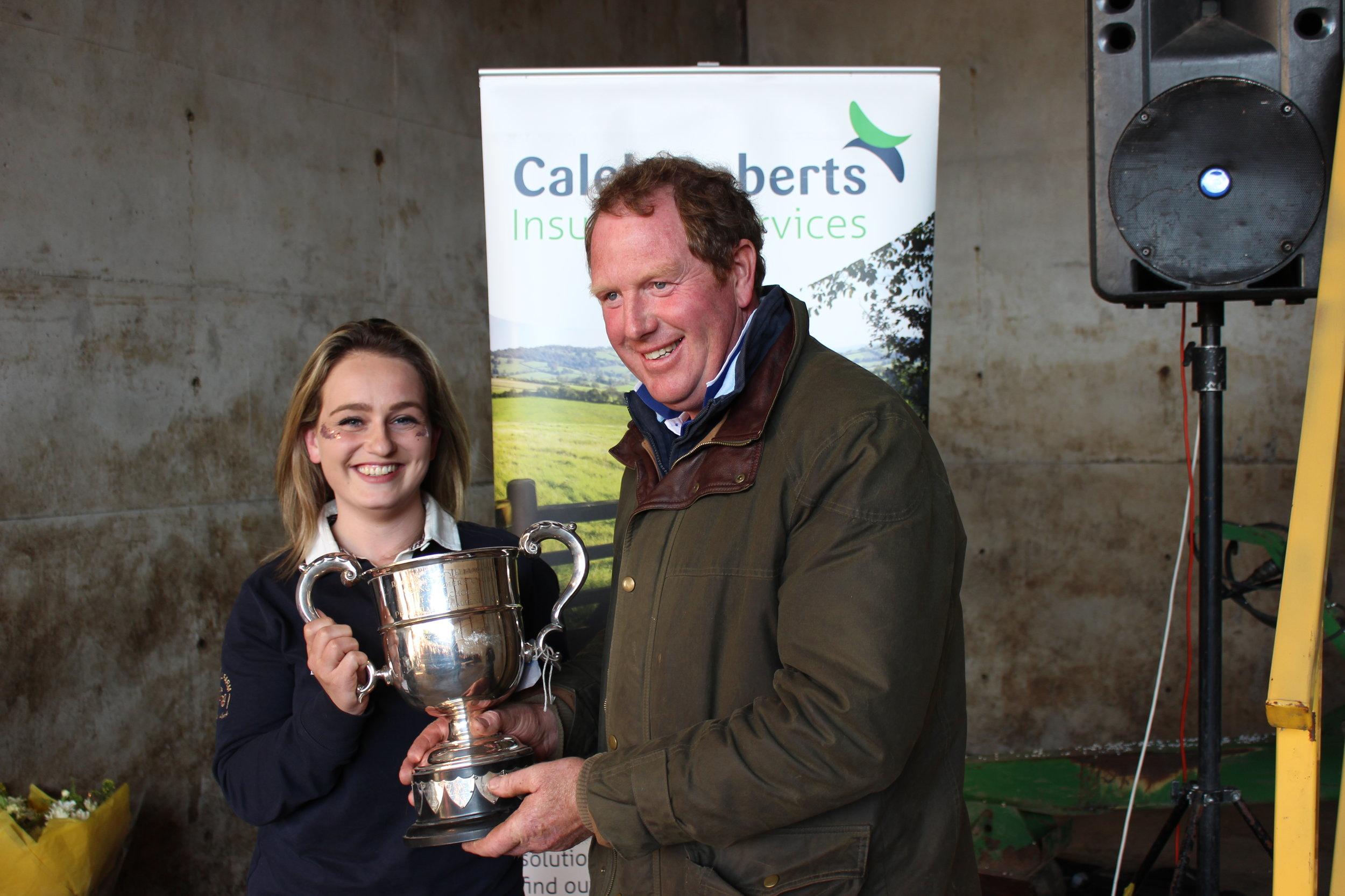 Lauren Morris, Radnor Valley YFC - TO Nicholls Trophy Stockjudging on Rally Day being presented by Rally Host, David Price.