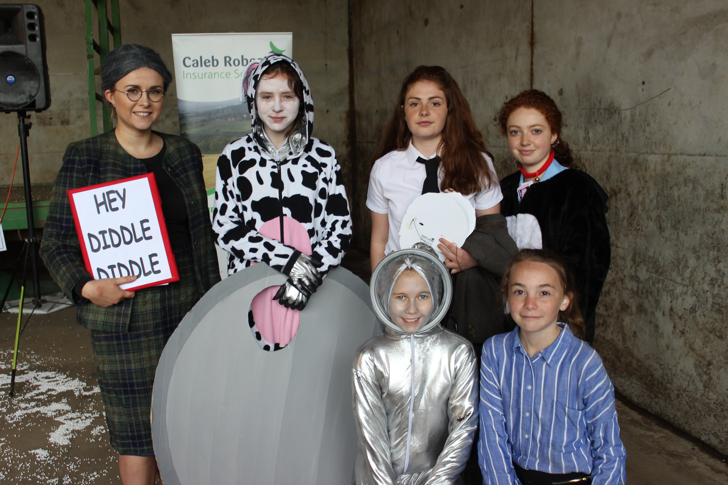 Edw Valley YFC - winners of the 'A Twist on a Nursery Rhyme' competition.