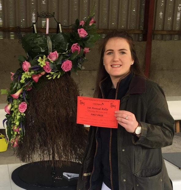 Ella Harris, Teme Valley YFC winner of the Intermediate & Senior Floral competitions.