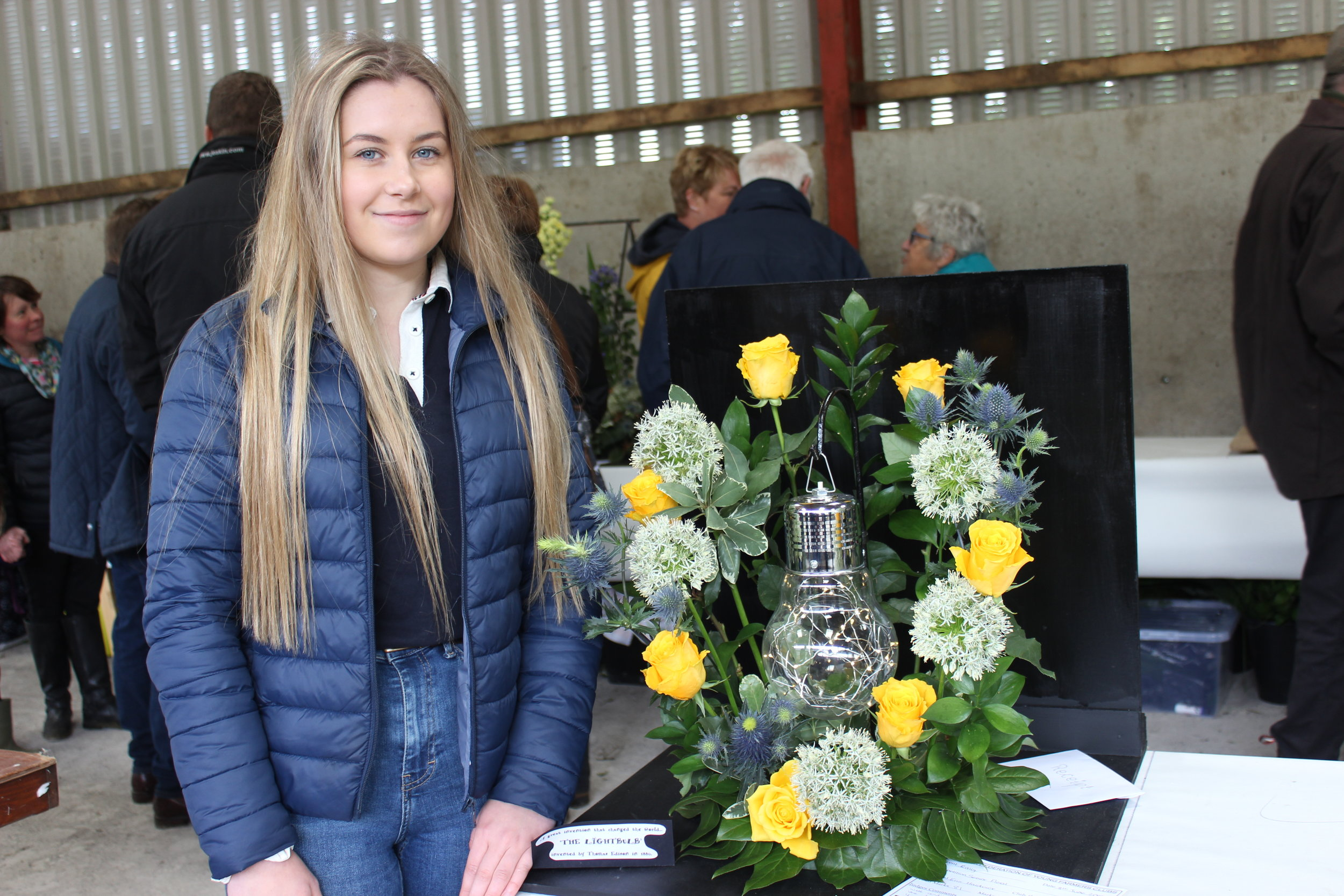 Erin Hardwick, Radnor Valley YFC in the Senior Floral competition.