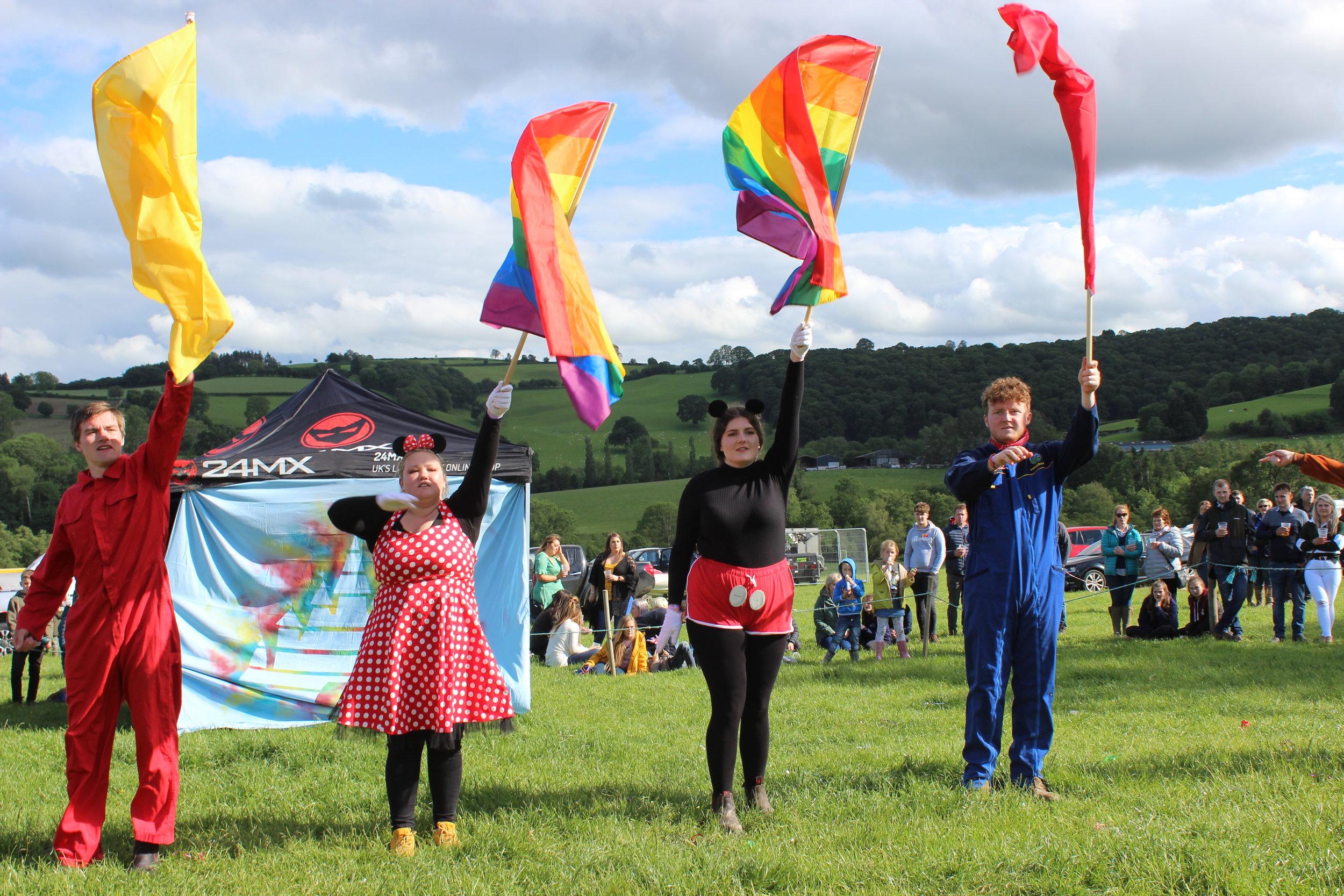 Edw Valley YFC in the Children's Entertainment Display