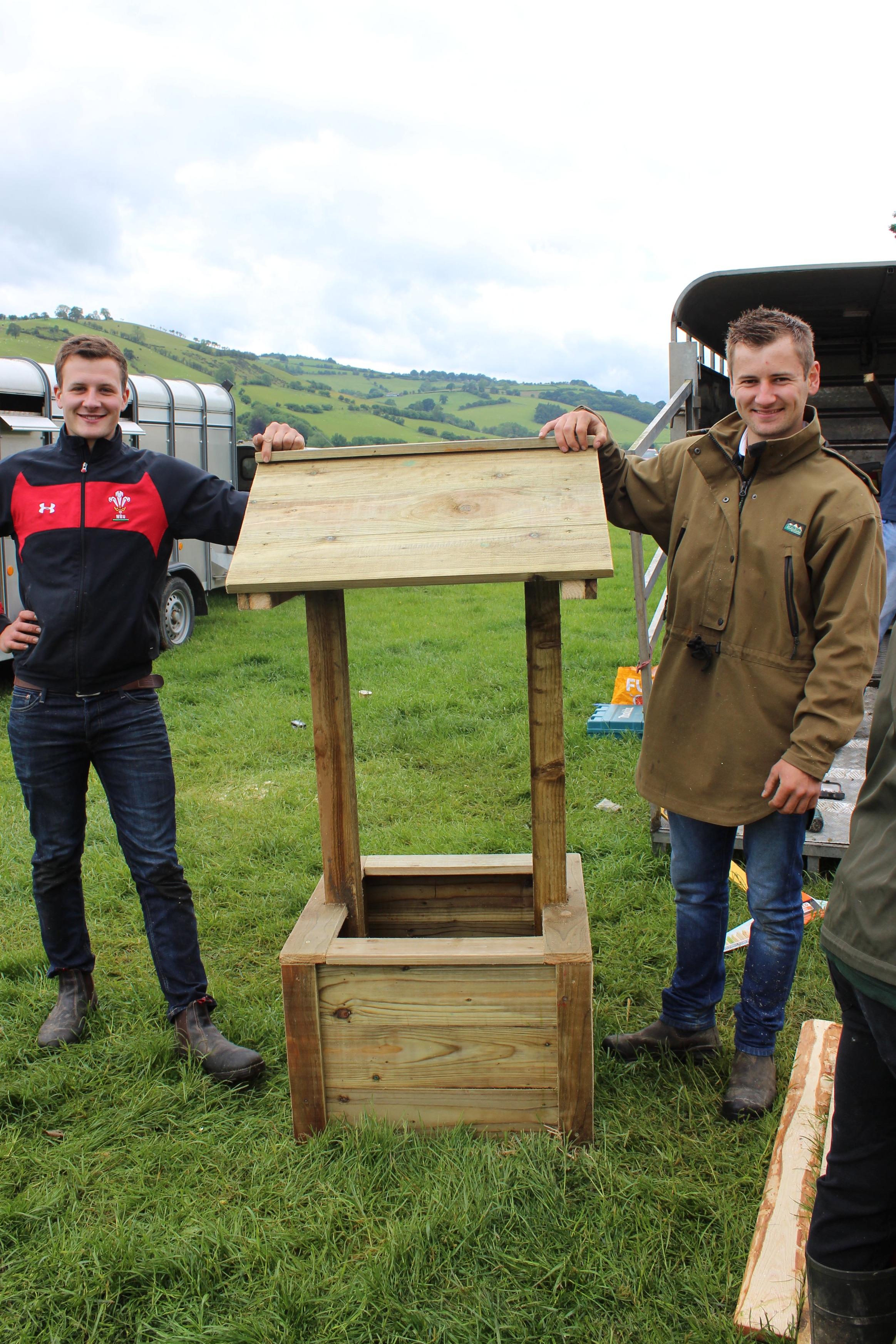 Bryn Lewis & Gwilym Lewis, Llanbadarn Fynydd YFC in the Woodwork competition.