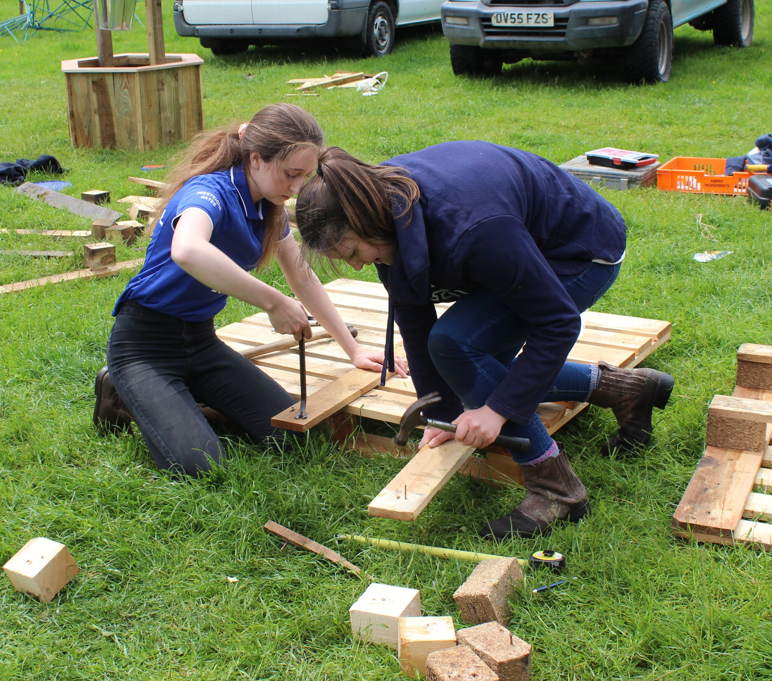Presteigne YFC in the Pallet Recycling competition.