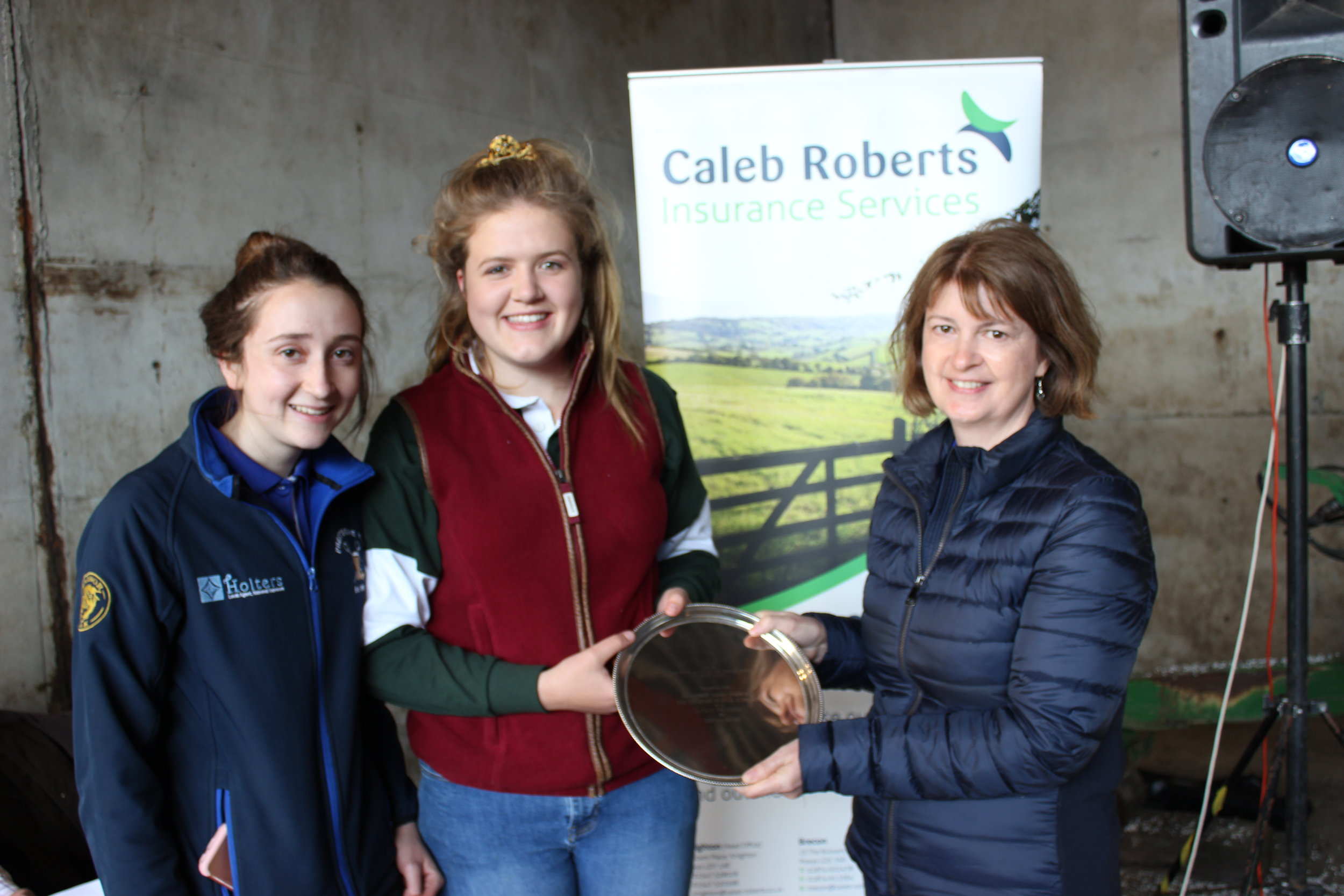 Sally Griffiths, Presteigne YFC - Sarah Froggatt Trophy for highest mark in Stockjudging Competitions.