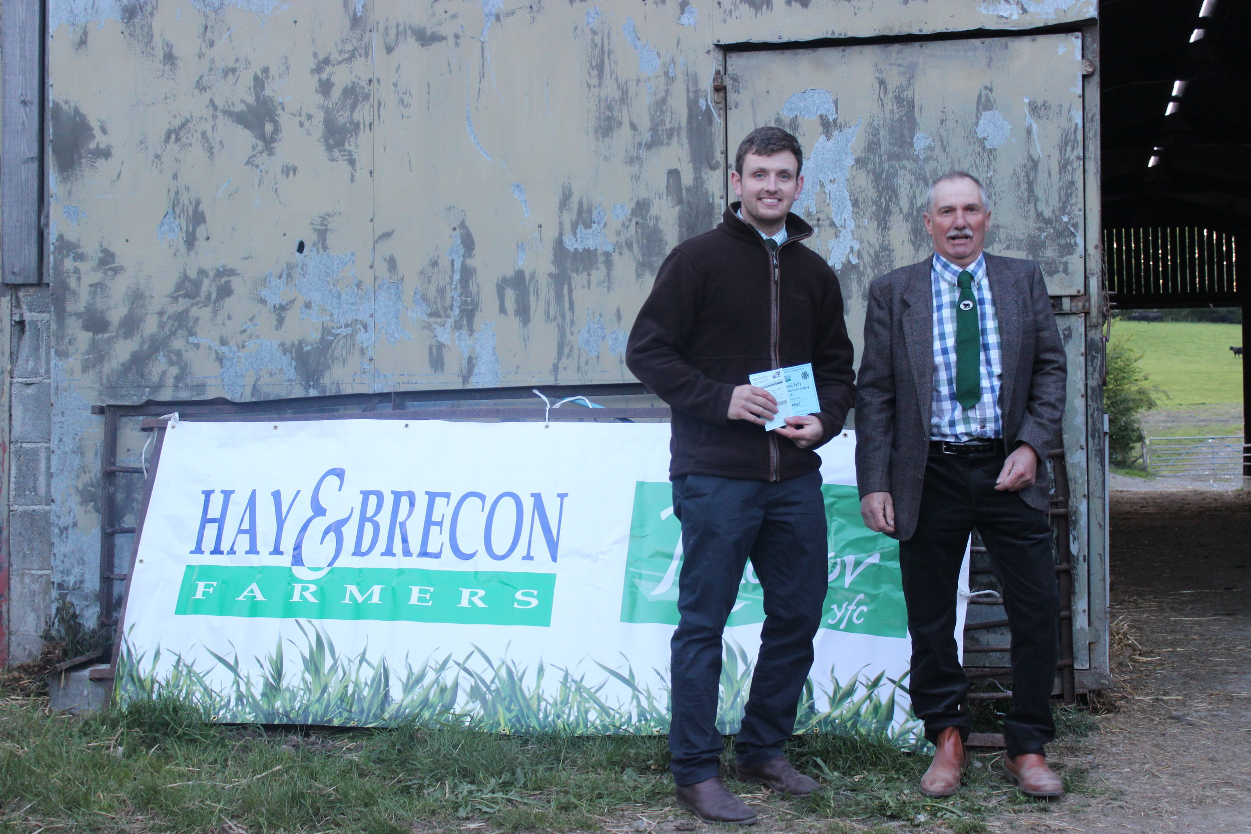 James Nixon, Rhayader YFC - 2nd in the Under 26 Welsh Black Cattle Stockjudging with Judge