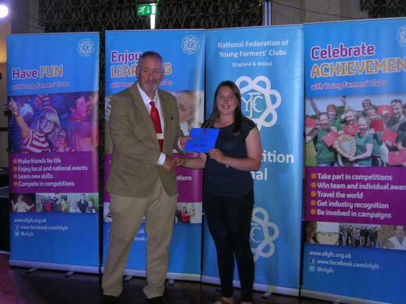Sian Davies, Edw Valley YFC, 2nd place in the Ballroom Dancing competition.