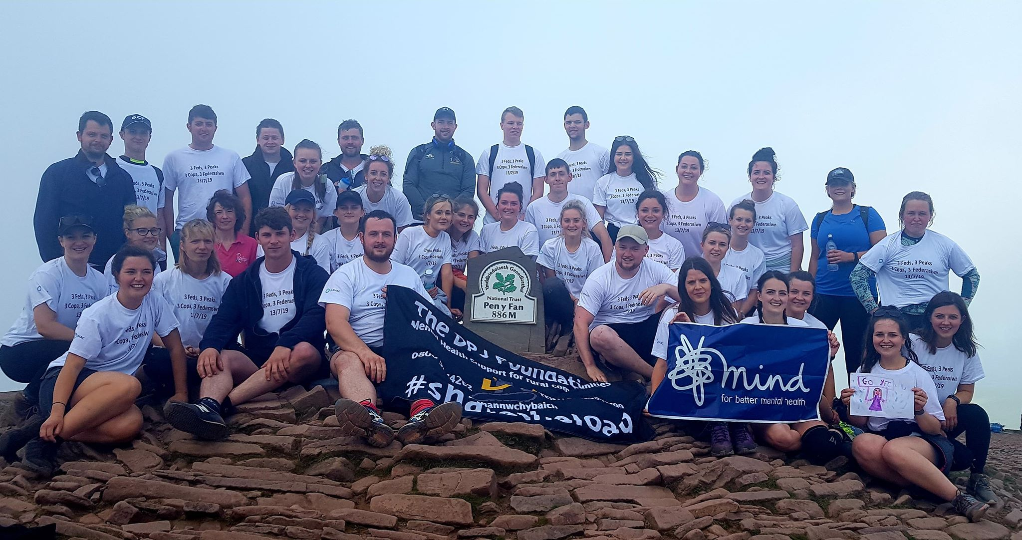 Radnor YFC at the top of the final peak - Pen Y Fan.