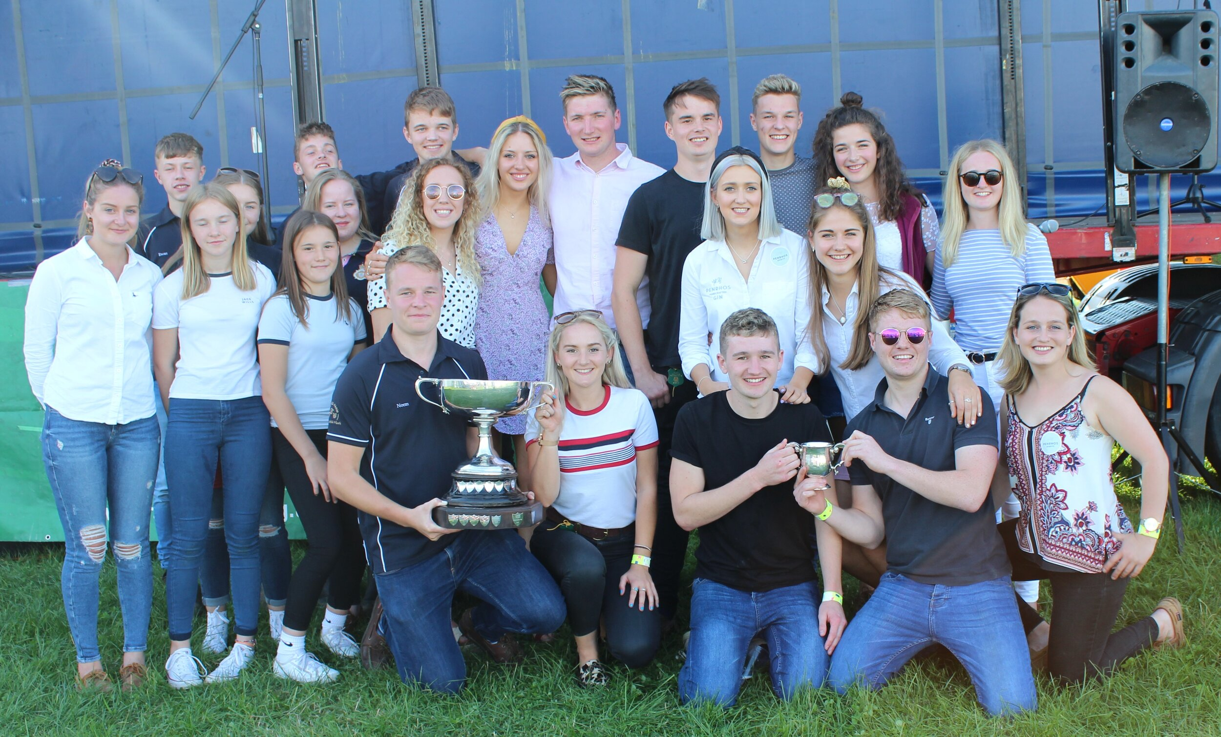 Radnor Valley YFC with the overall trophy.