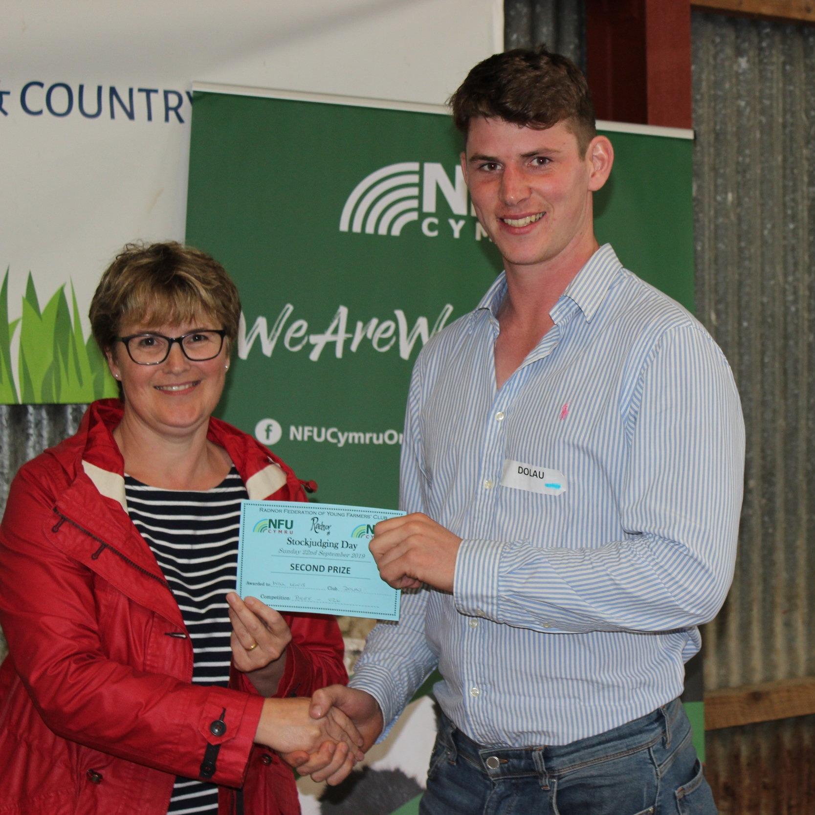 Will Lewis, Dolau YFC - 2nd place in the Senior Beef with Amanda Watson.