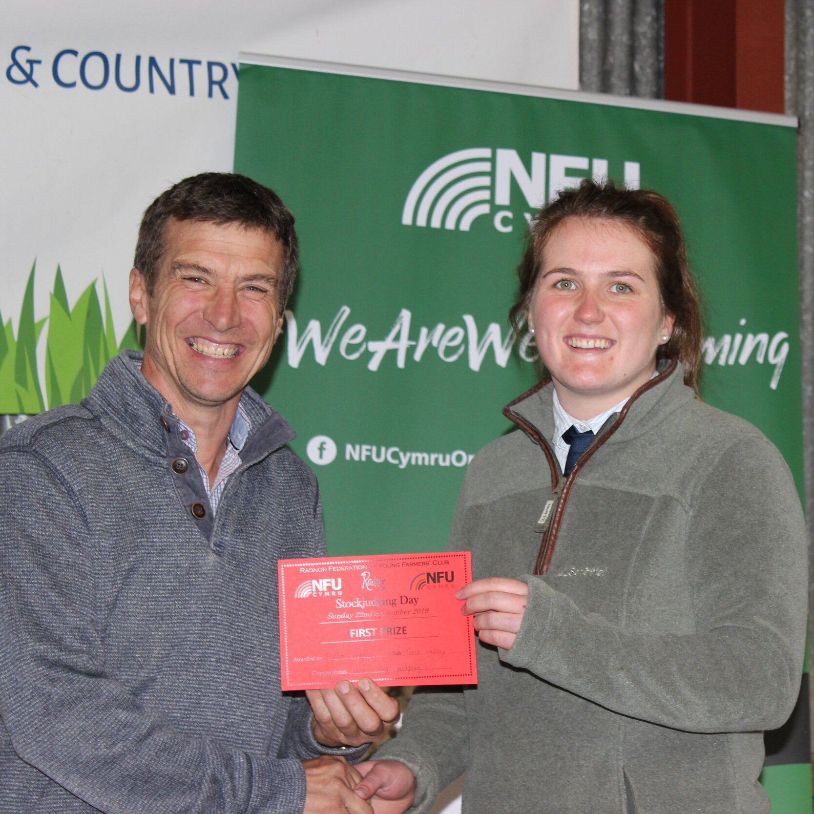 Ella Harris, Teme Valley YFC - joint 1st place in the Senior Pig with Mark Watson.
