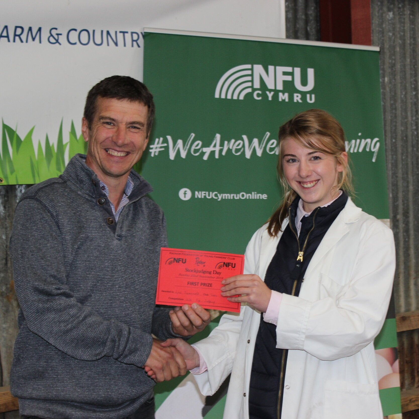Liz Swancott, Teme Valley YFC - joint 1st place in the Senior Pig with Mark Watson.