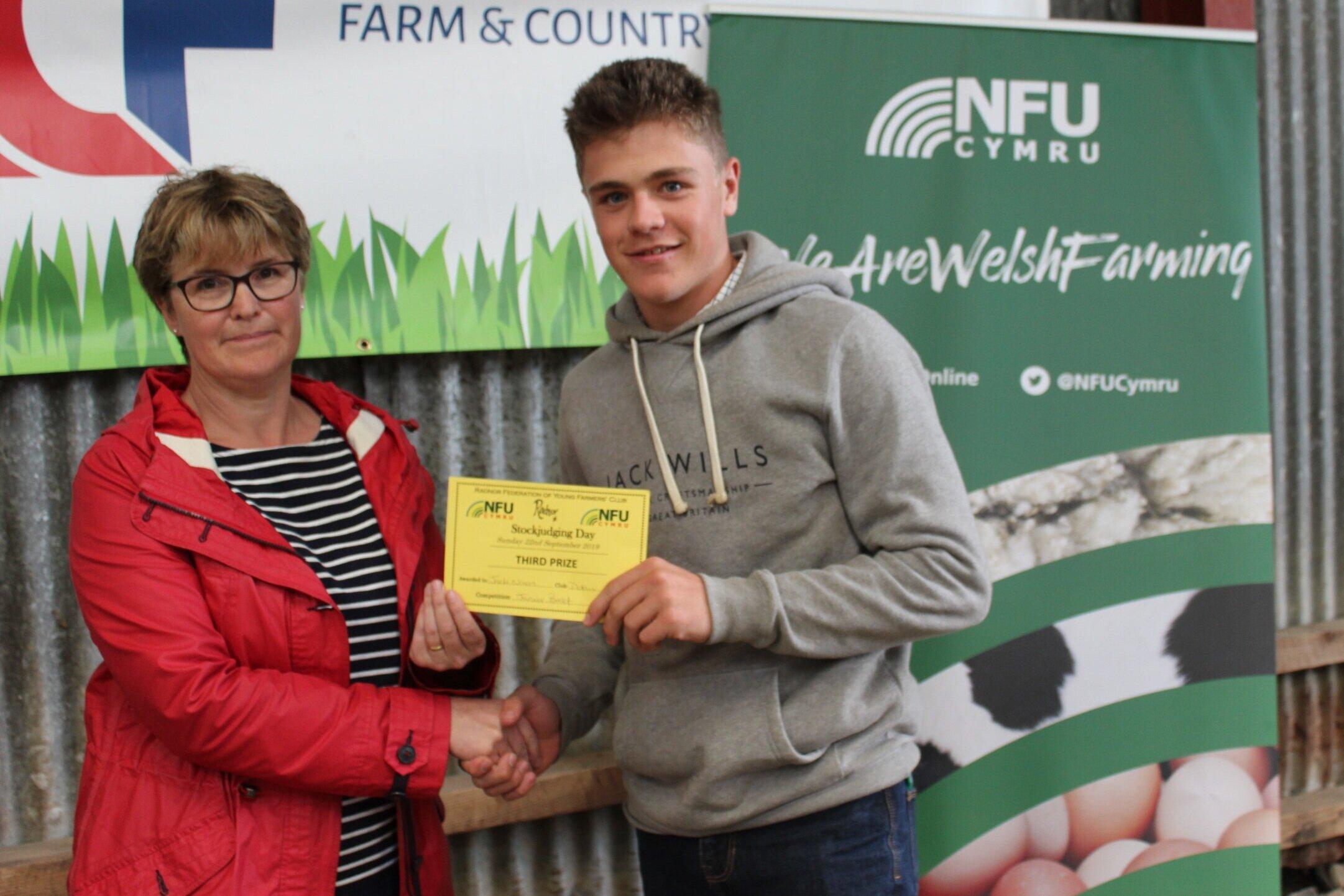 Jack Nixon, Dolau YFC - 3rd place in the Junior Beef with Amanda Watson.