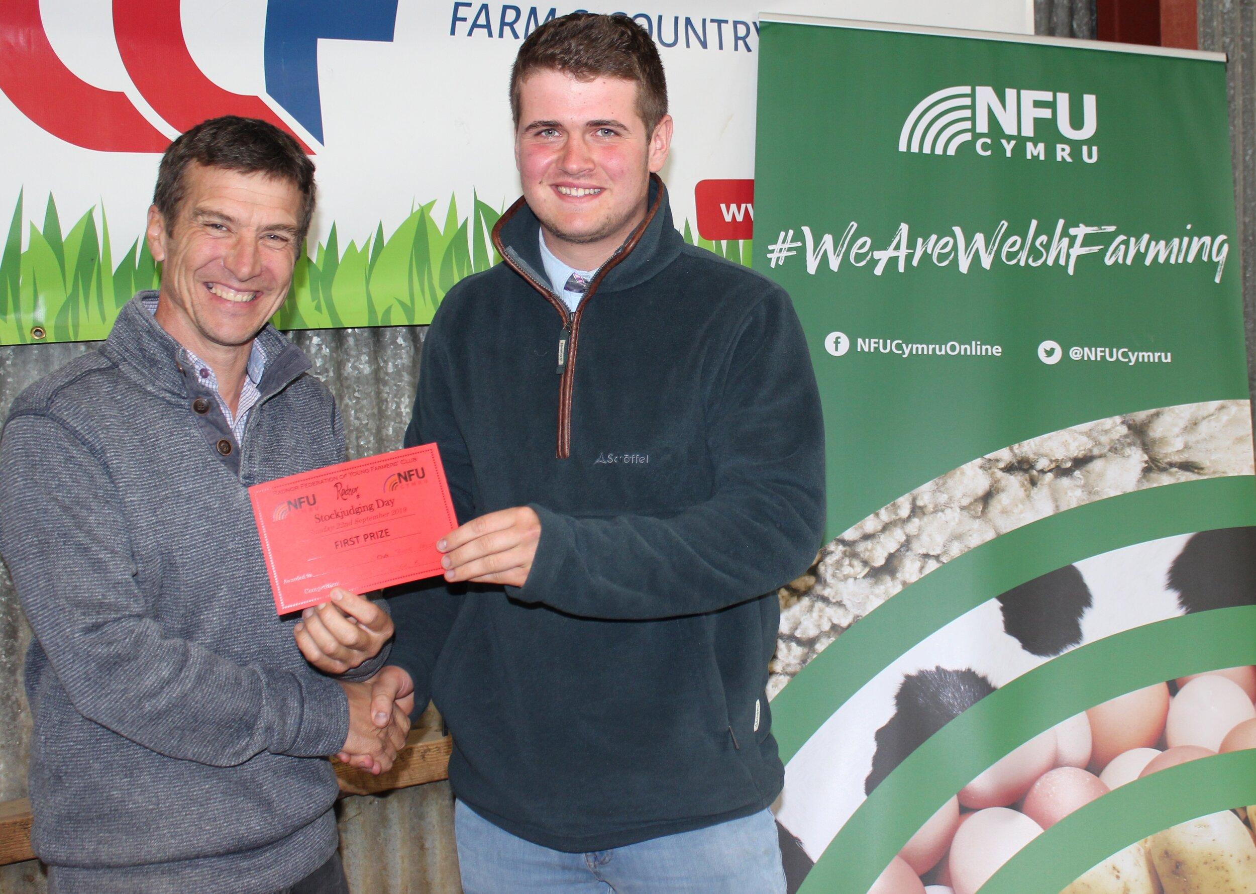 Jon Harris, Teme Valley YFC - 1st place in the Junior Lamb with Mark Watson.