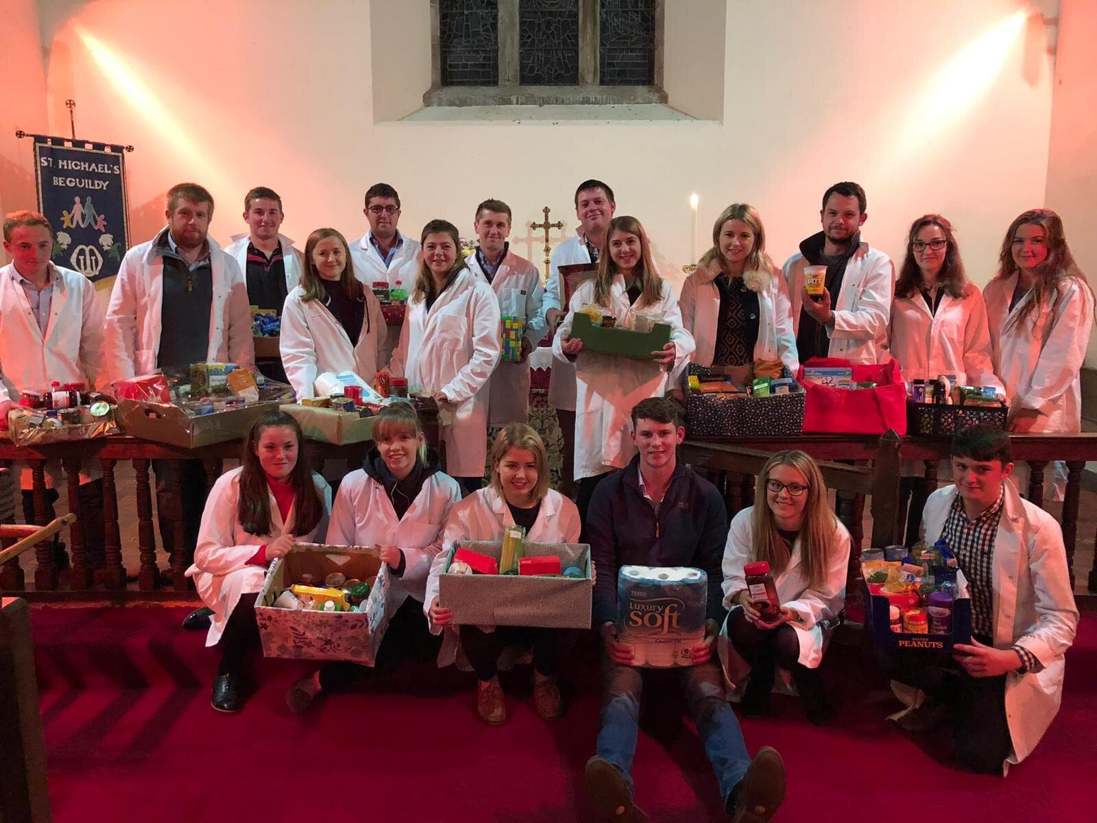 Club & County Officials at the County Harvest Festival in St Michaels Church, Beguildy.