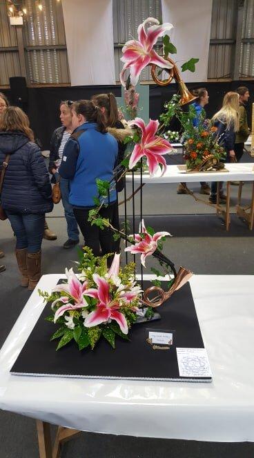Emma Jones, Radnor Valley YFC's Junior Floral entry.